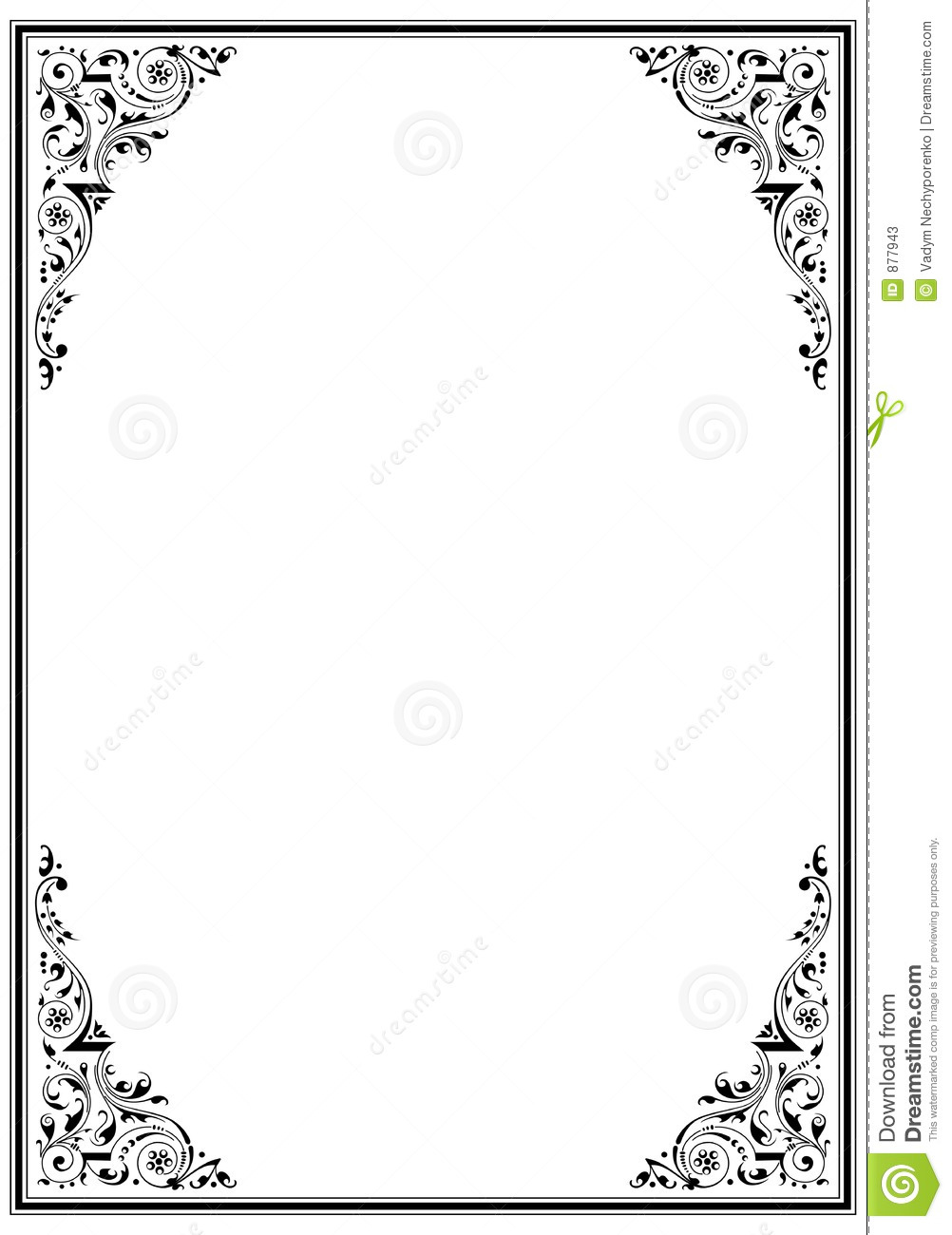 black frame with ornament stock vector illustration of ornament