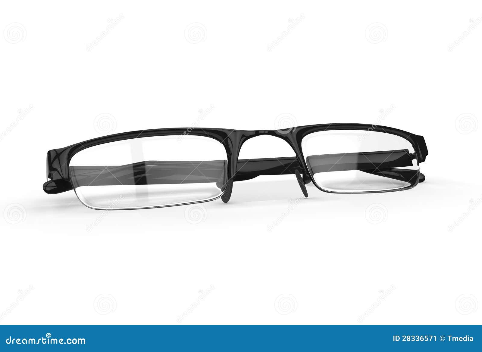 Black Framed Fashion Glasses Stock Image - Image: 28336571