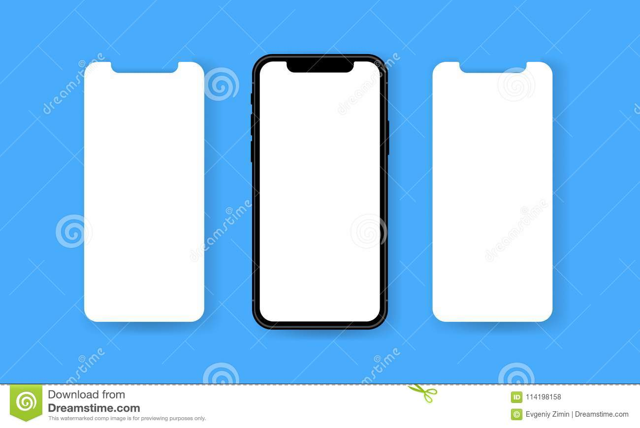 Blank Wireframe For App Data Wiring Home 1ft Nema 650p To L620r Converter Power Cord 14 3 Soow Black Frameless Smartphone With Screens Stock Vector Rh Dreamstime Com Template Diagrams