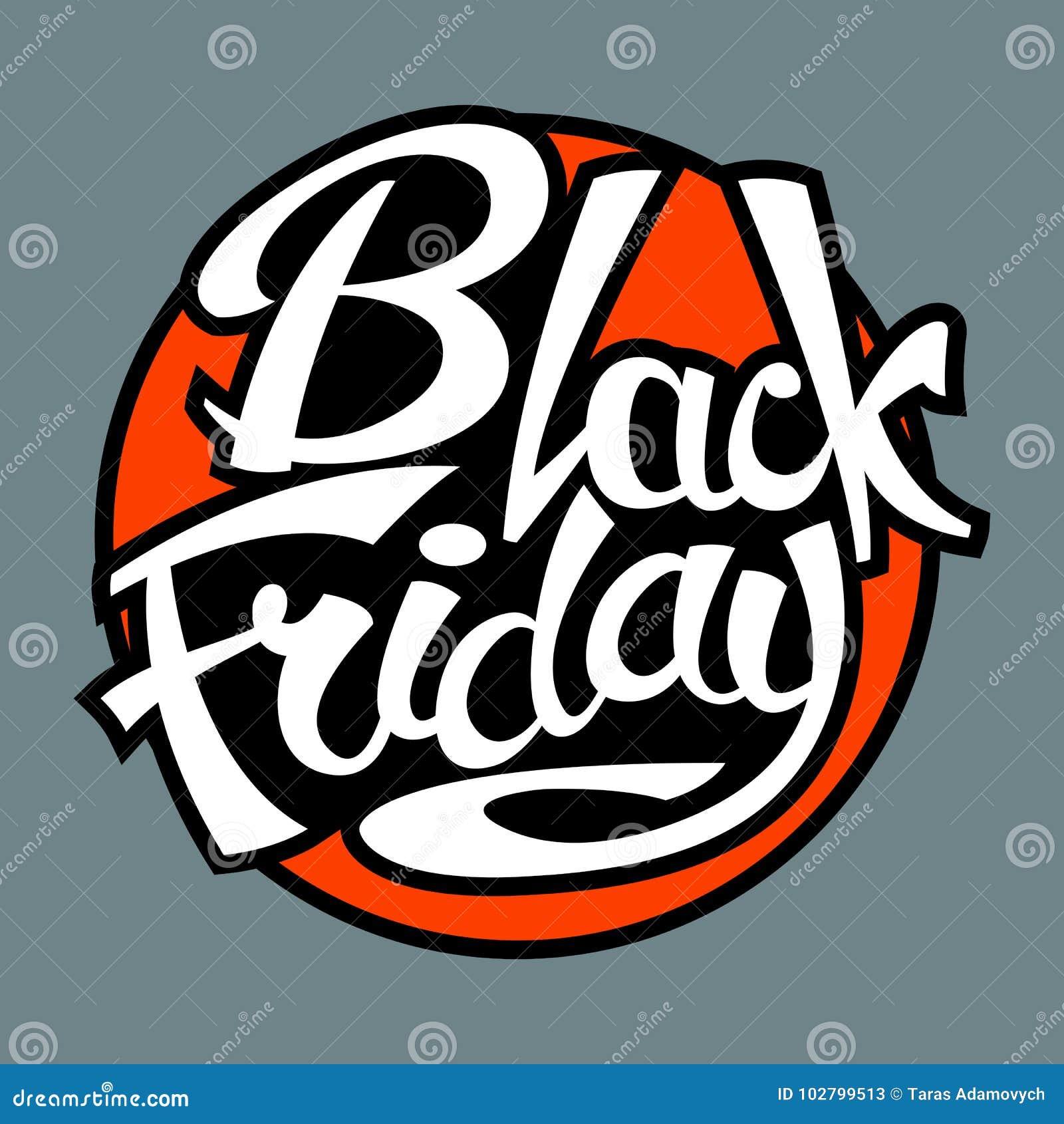 Black Friday-de vector vlakke illustratie van de verkoopmarkering