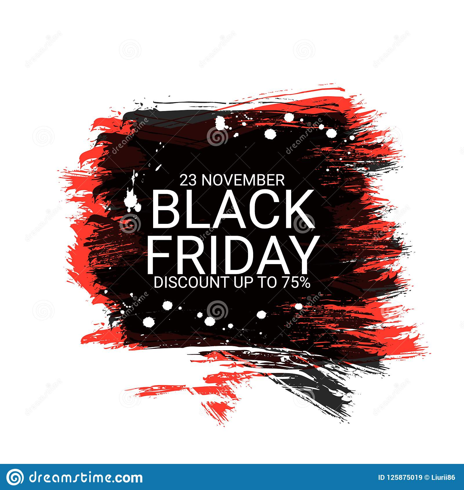 black friday inscription on abstract ink blots for sale and discount