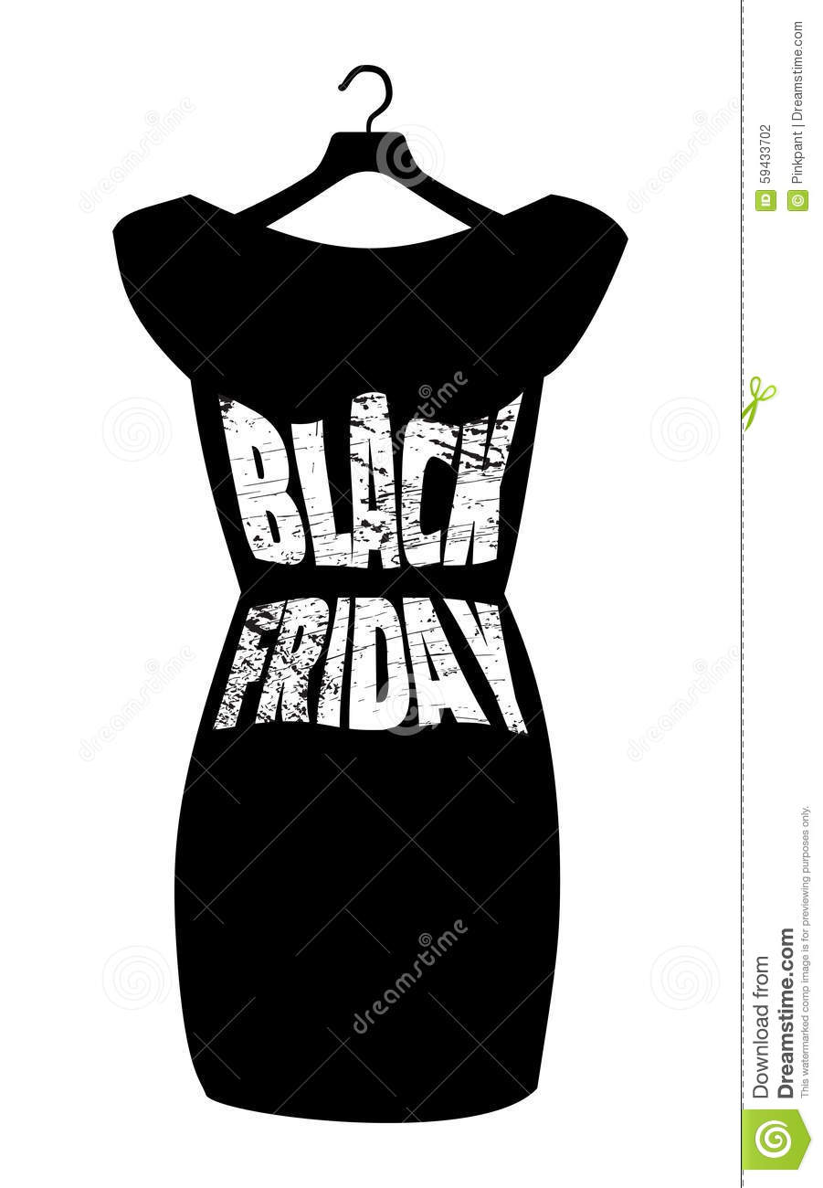 Black Friday Lettering On The Fashionable Black Dress ...