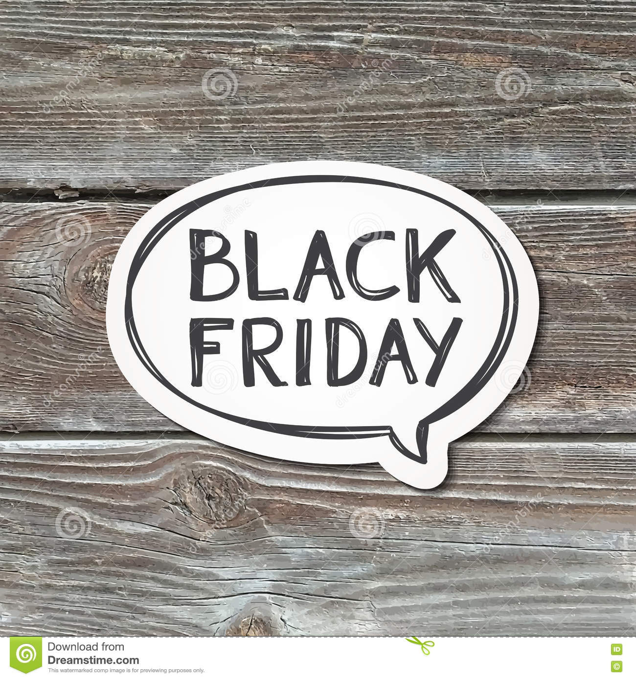 Black Friday Lettering Wood Texture Stock Vector Image