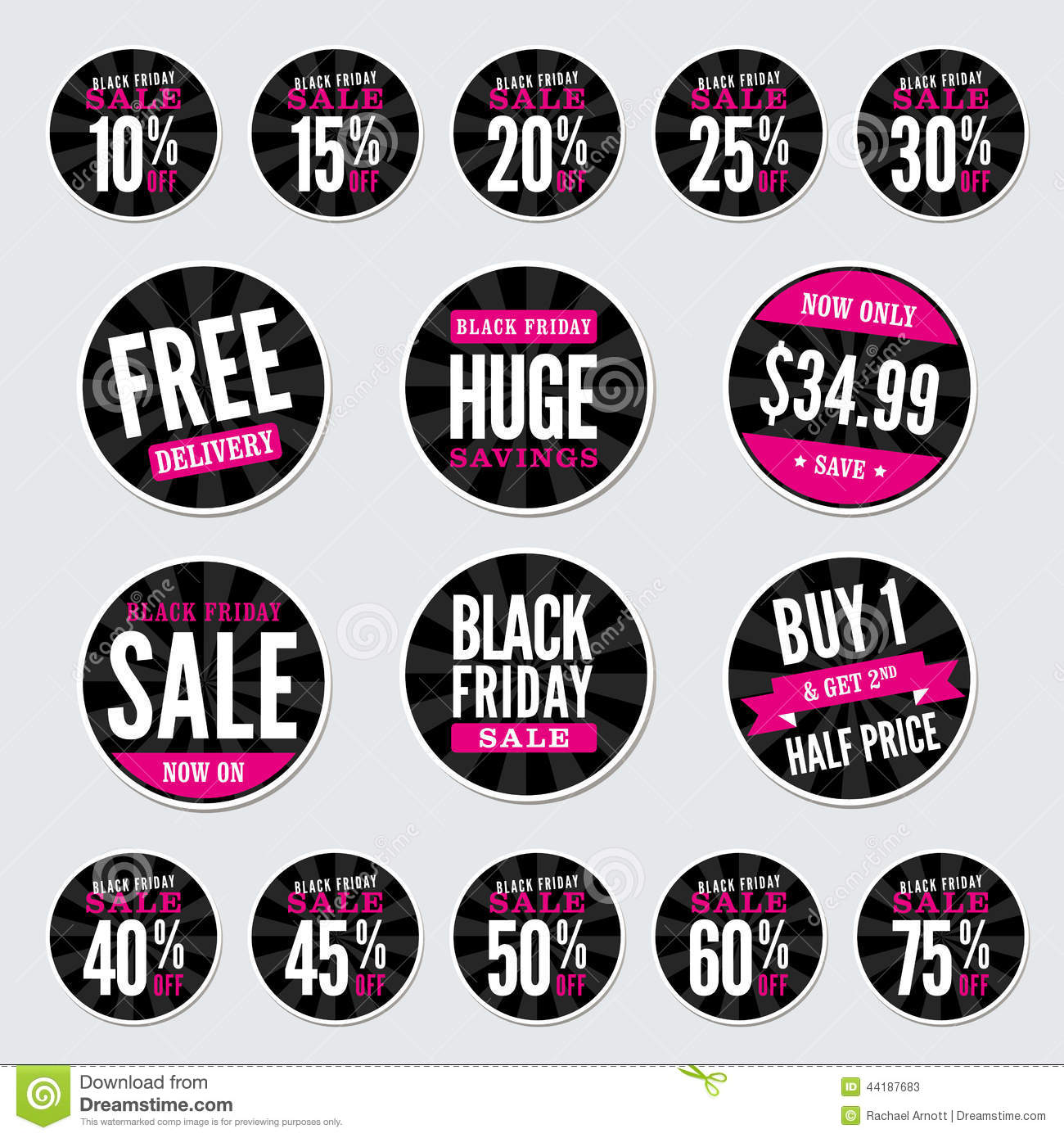 Set different black friday stickers isolated royalty free for Style at home subscription deal