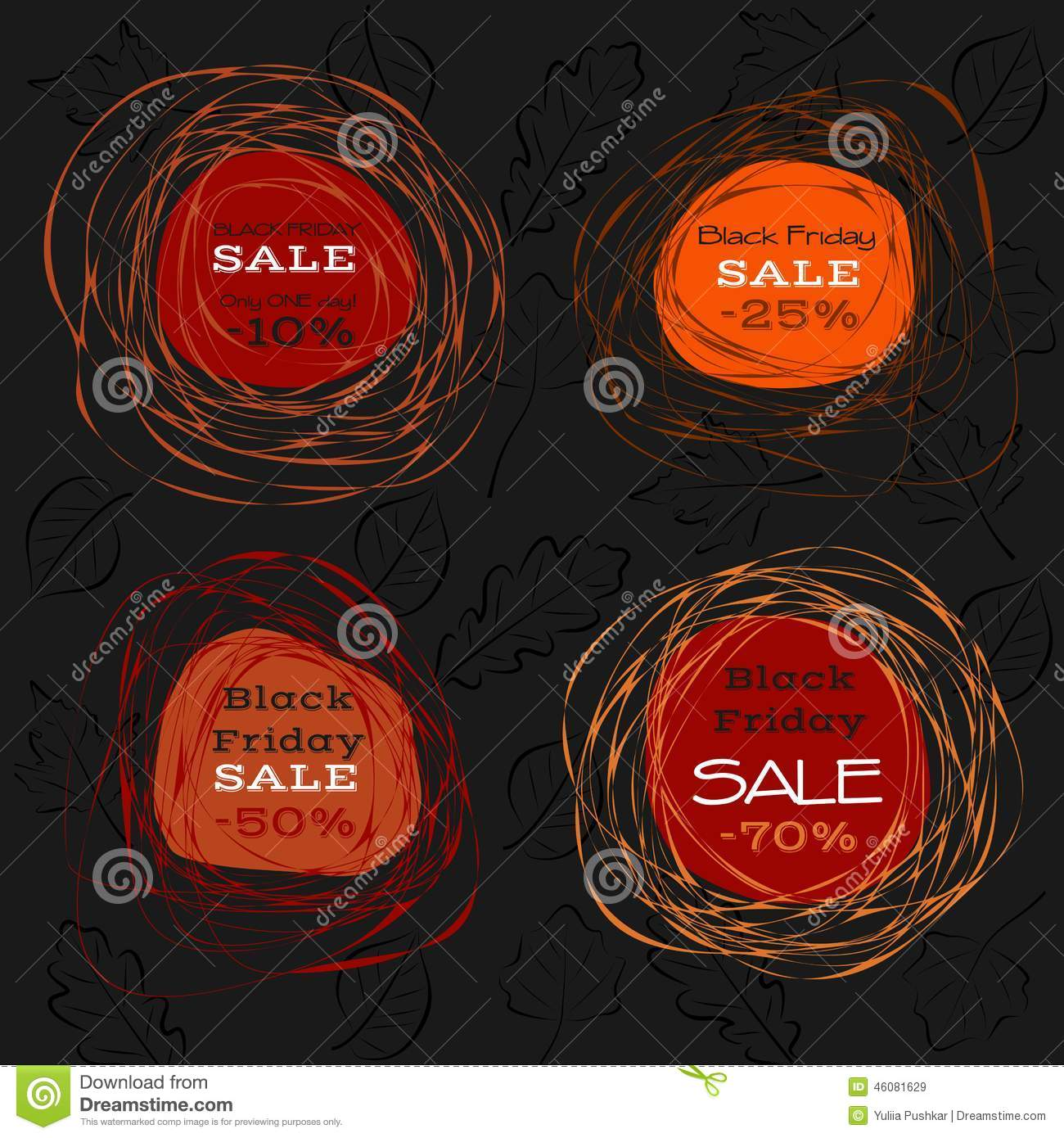 Black Friday Sale. Abstract Frames Stock Vector - Image ...