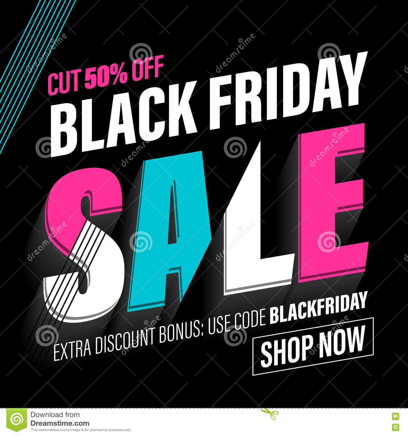 black friday sale banner poster discount card stock illustration image 80068939. Black Bedroom Furniture Sets. Home Design Ideas