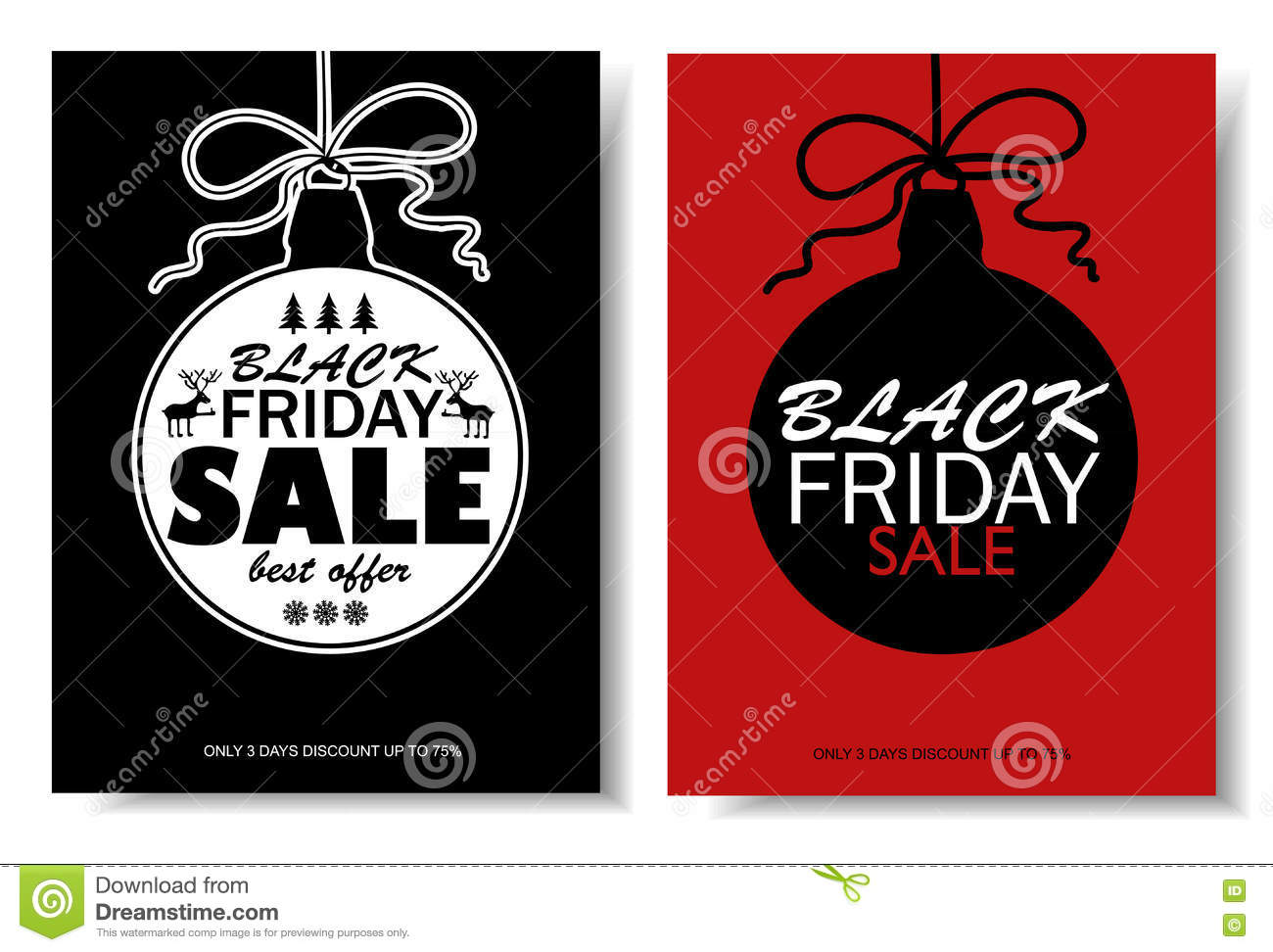 Black Friday Sale Banners With Christmas Ball Stock Vector Illustration Of Label Christmas 78520669