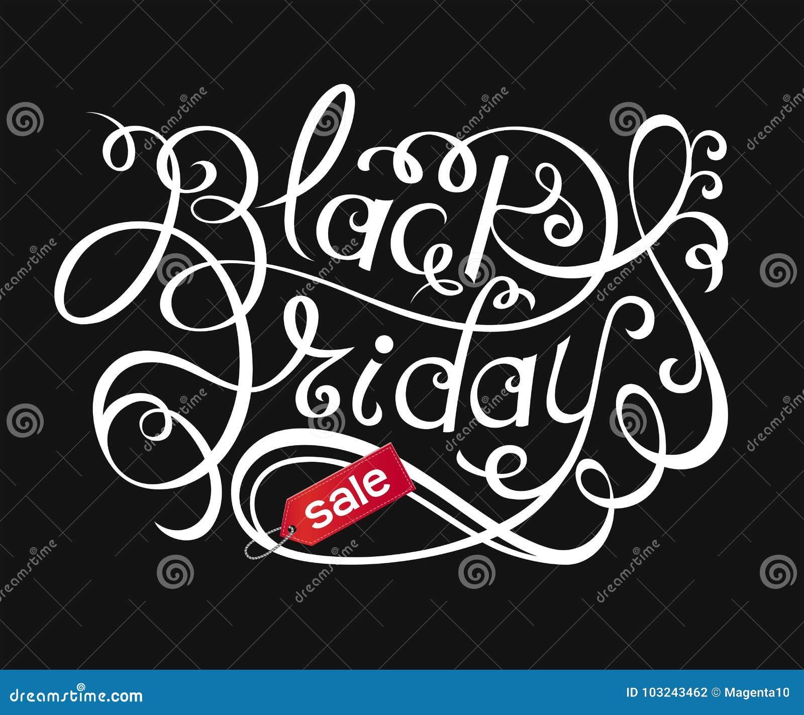 Black Friday Sale bokstäver