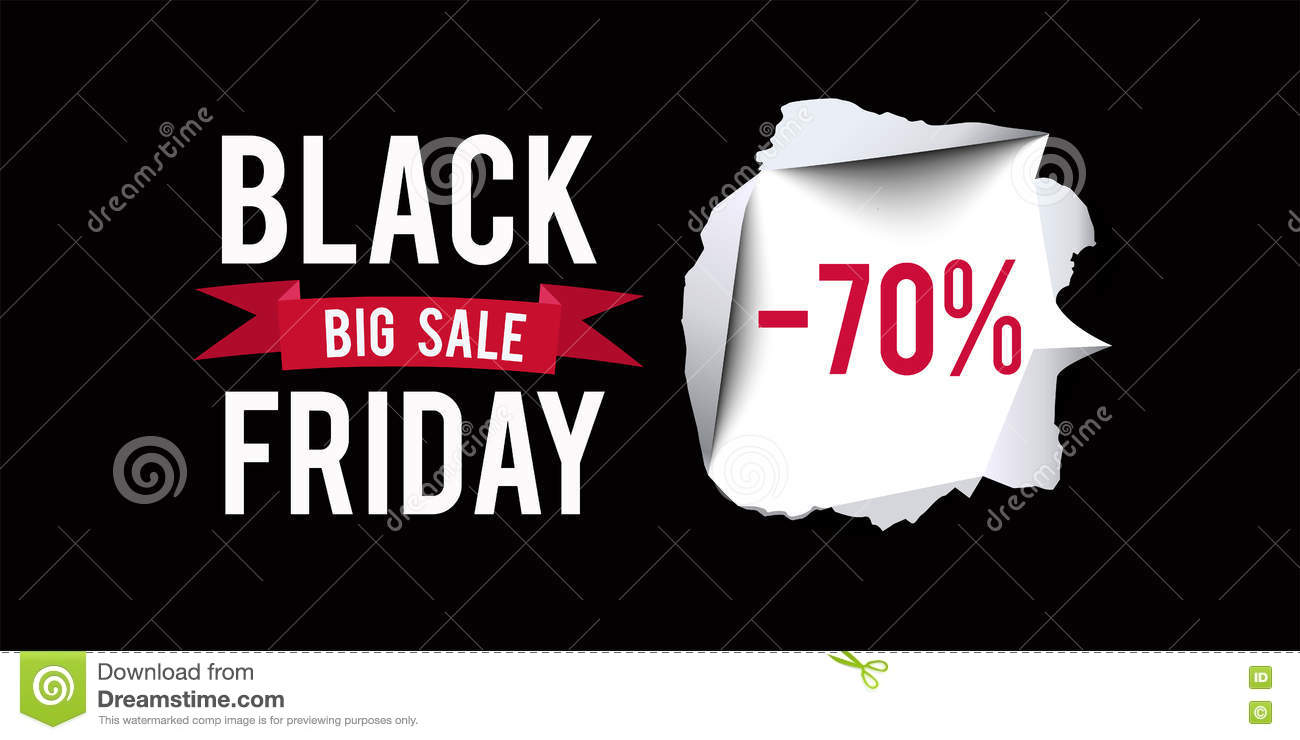 black friday sale vector banner design cartoon vector 62777715. Black Bedroom Furniture Sets. Home Design Ideas