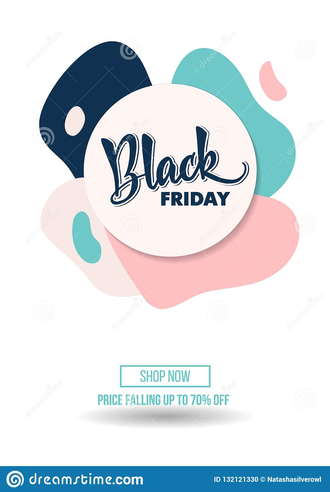 Black Friday sale discount promo offer poster or advertising fly