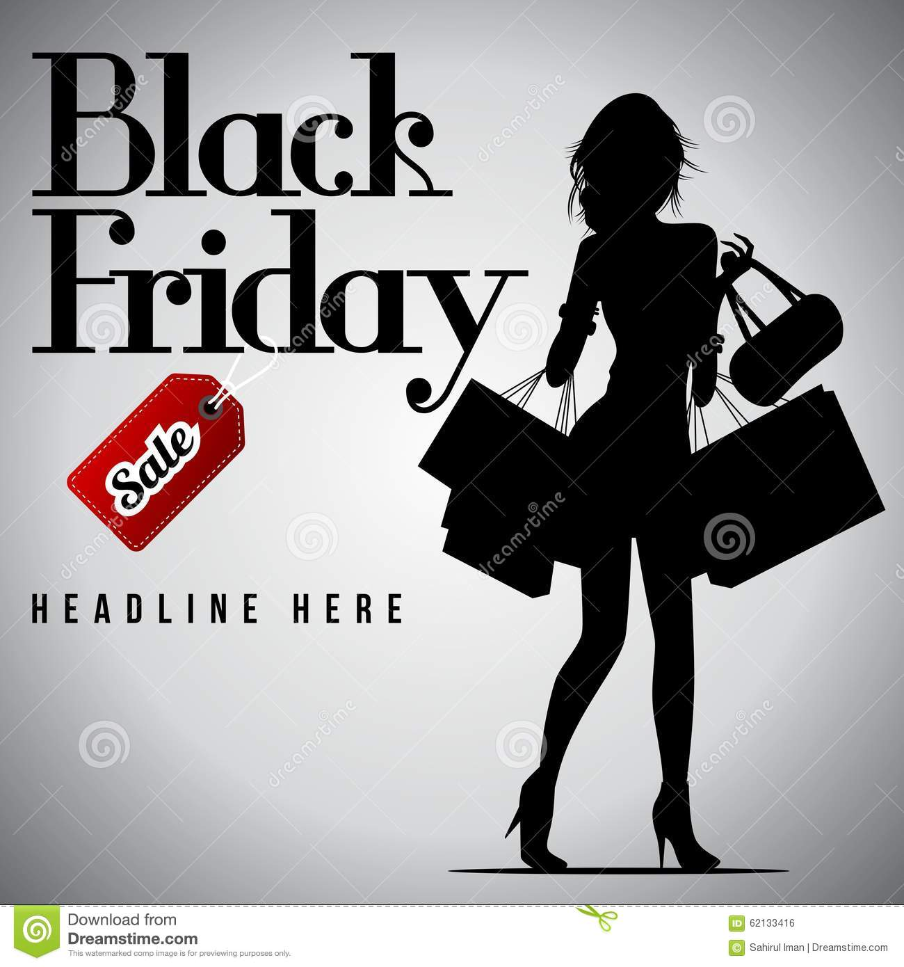 Black Friday Sale, Discount And Voucher Template Stock Illustration ...