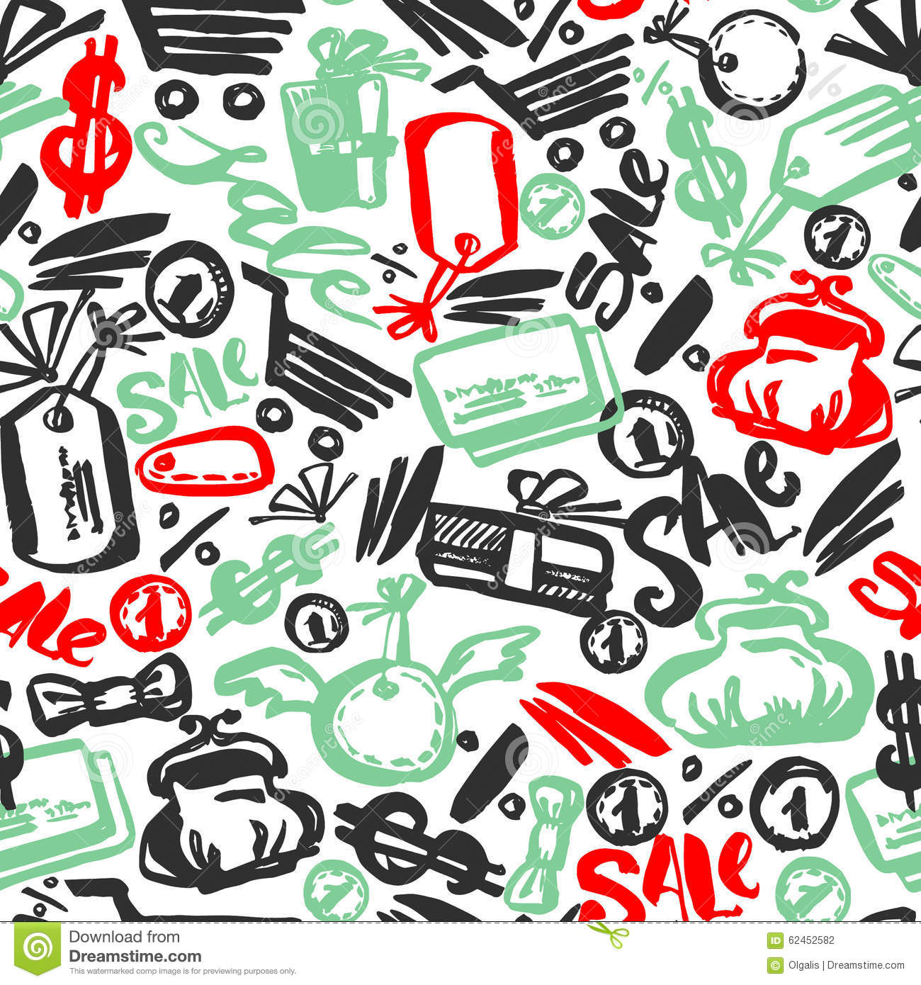 Black Friday Sale Hand Lettering Banner Seamless Pattern Stock