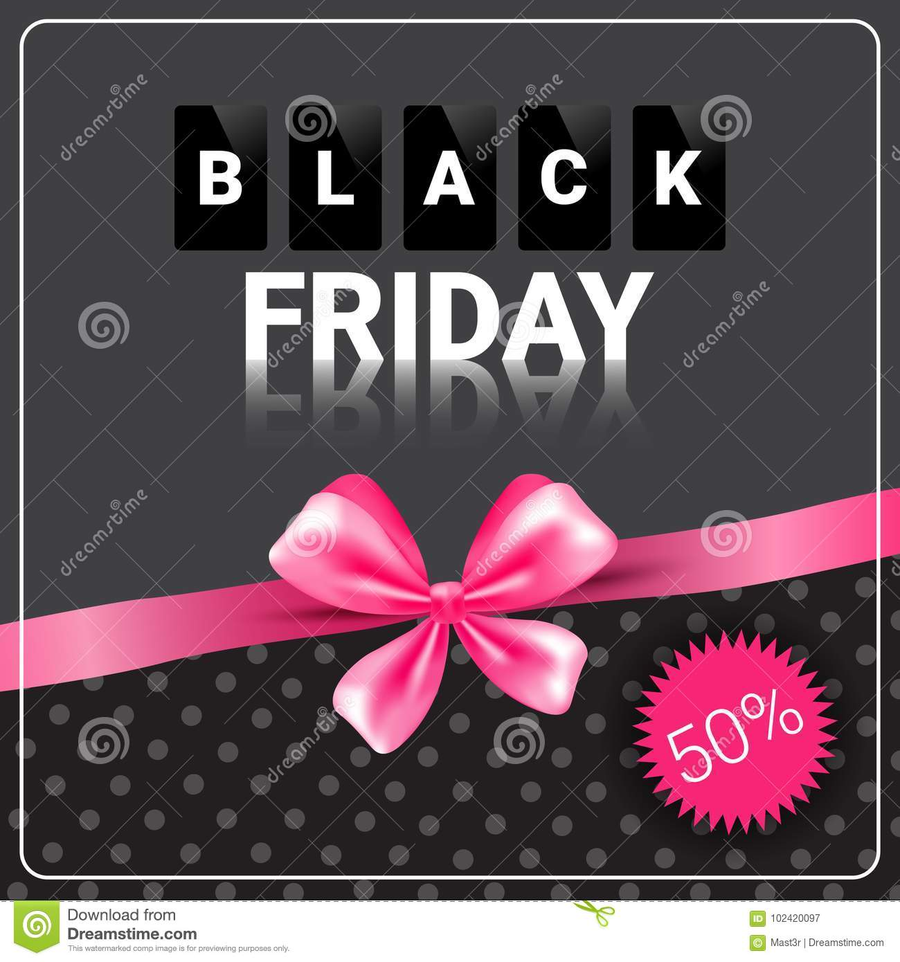 c6337182dc Black Friday Sale Poster Background Pink Ribbon Design Shopping Discount  Flyer