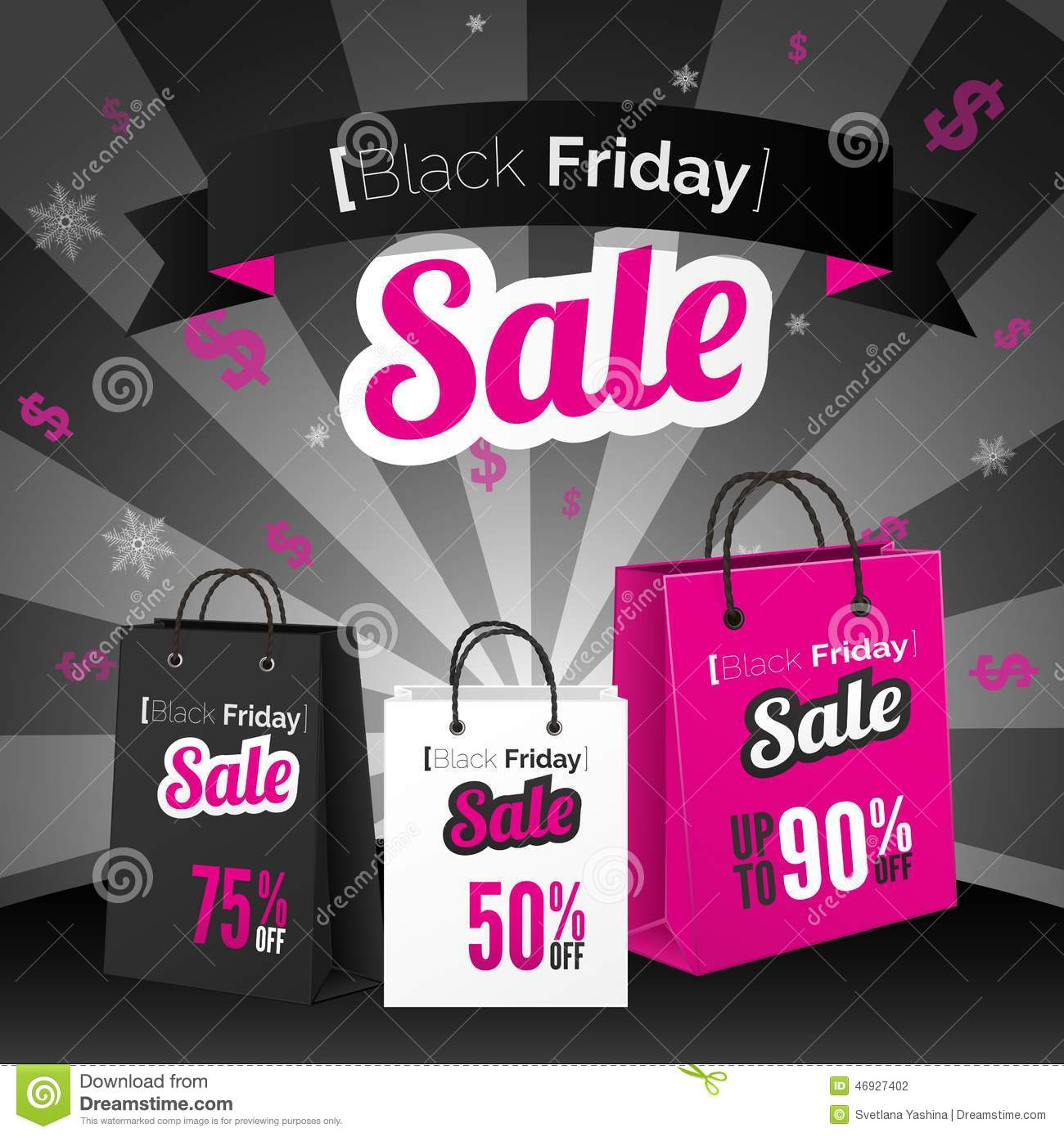 black friday sale poster stock vector