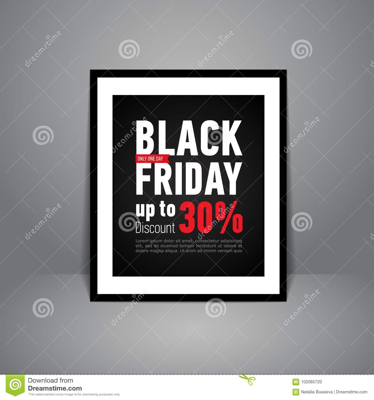 Black Friday Sale Poster Standing On Floor Trendy Sale Poster In