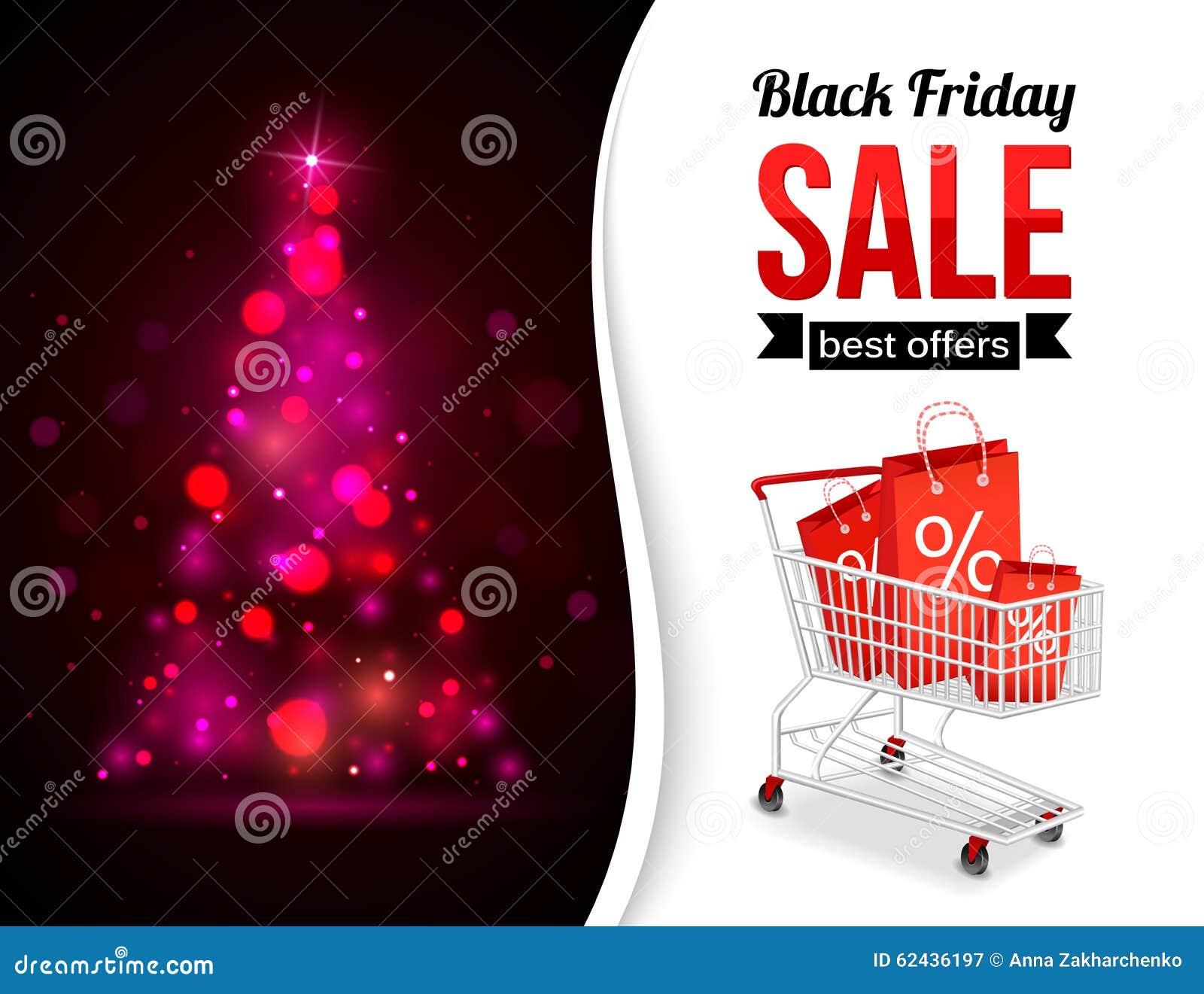Black Friday Sale Shining Typographical Background Stock