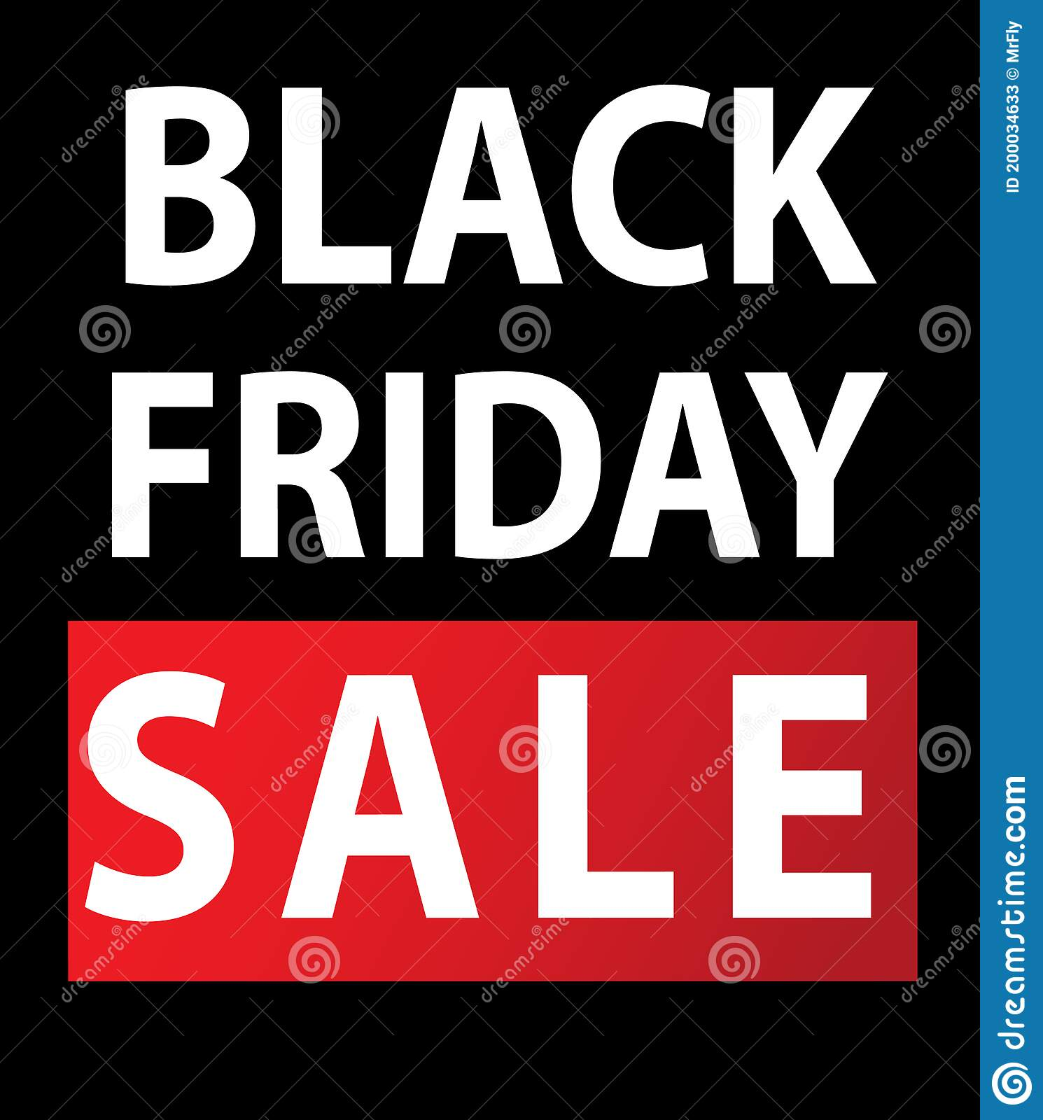 Black Friday Sale Simple 3 Color Vector Illustration Stock Vector Illustration Of Percent Available 200034633