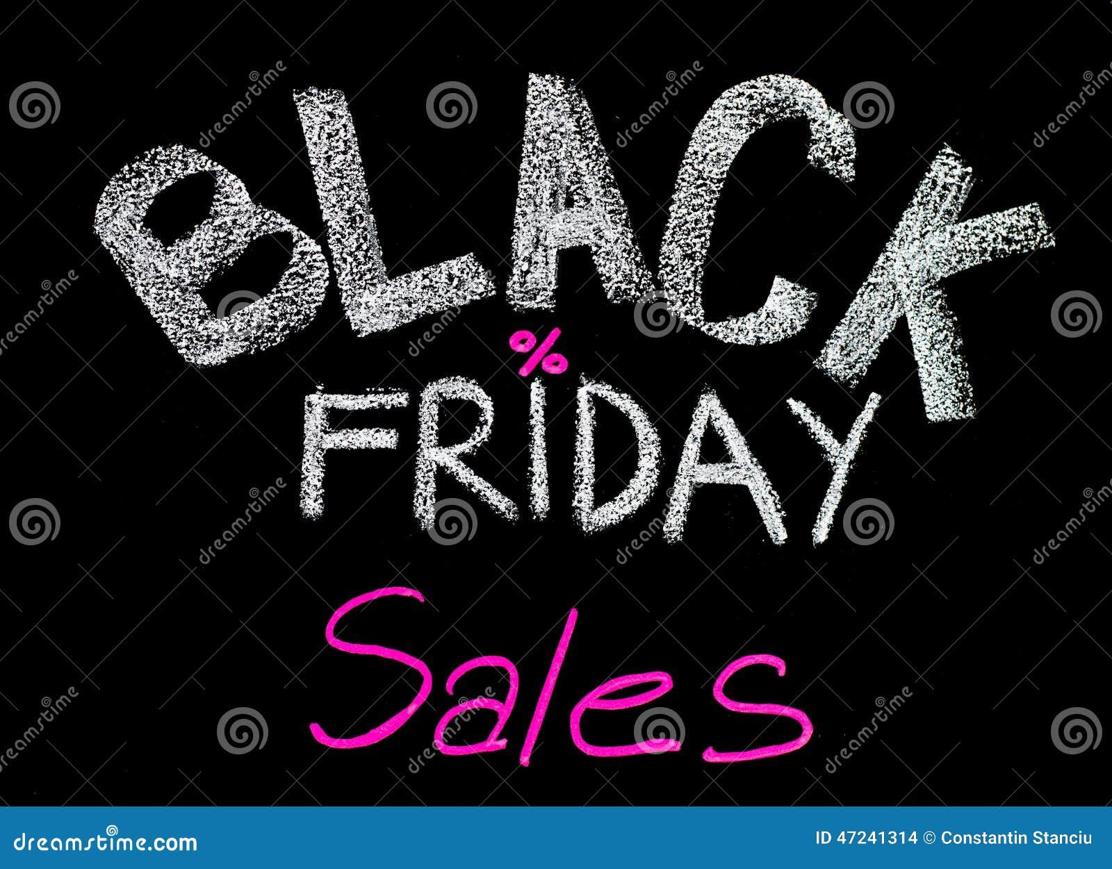 Black Friday Deals Pink >> Black Friday Sales Advertisement Handwritten With Chalk On Blackboard Stock Photo - Image: 47241314