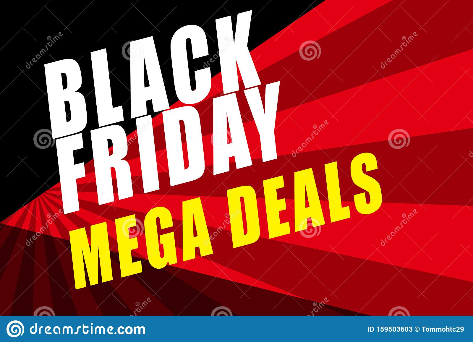 Black Friday Sales Poster With Text Bold Sales Sign For Promotions Of Price Reduction Stock Illustration Illustration Of Seasonal Deals 159503603