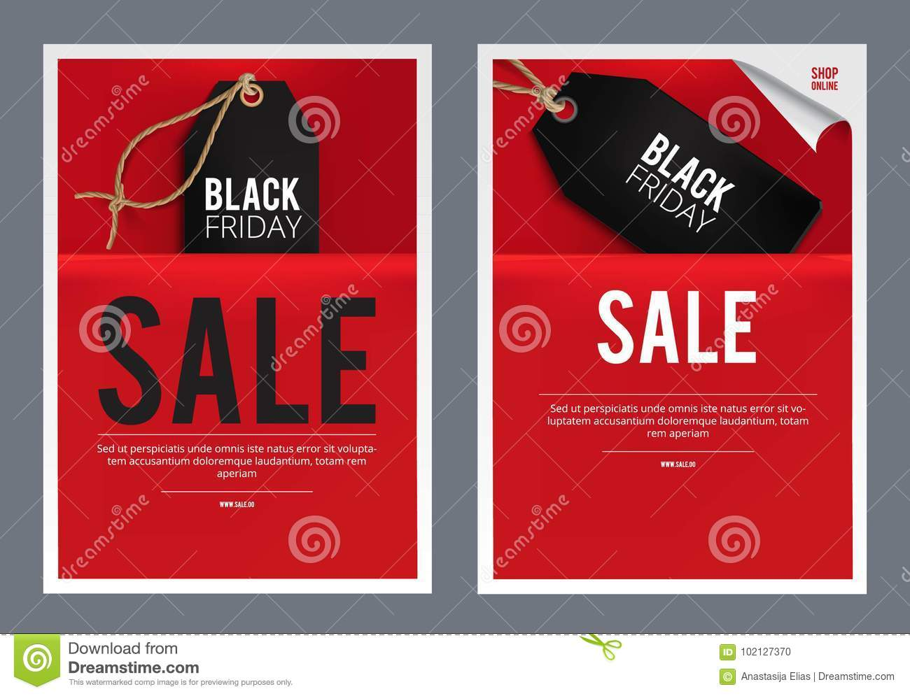black friday sales template stock illustration illustration of
