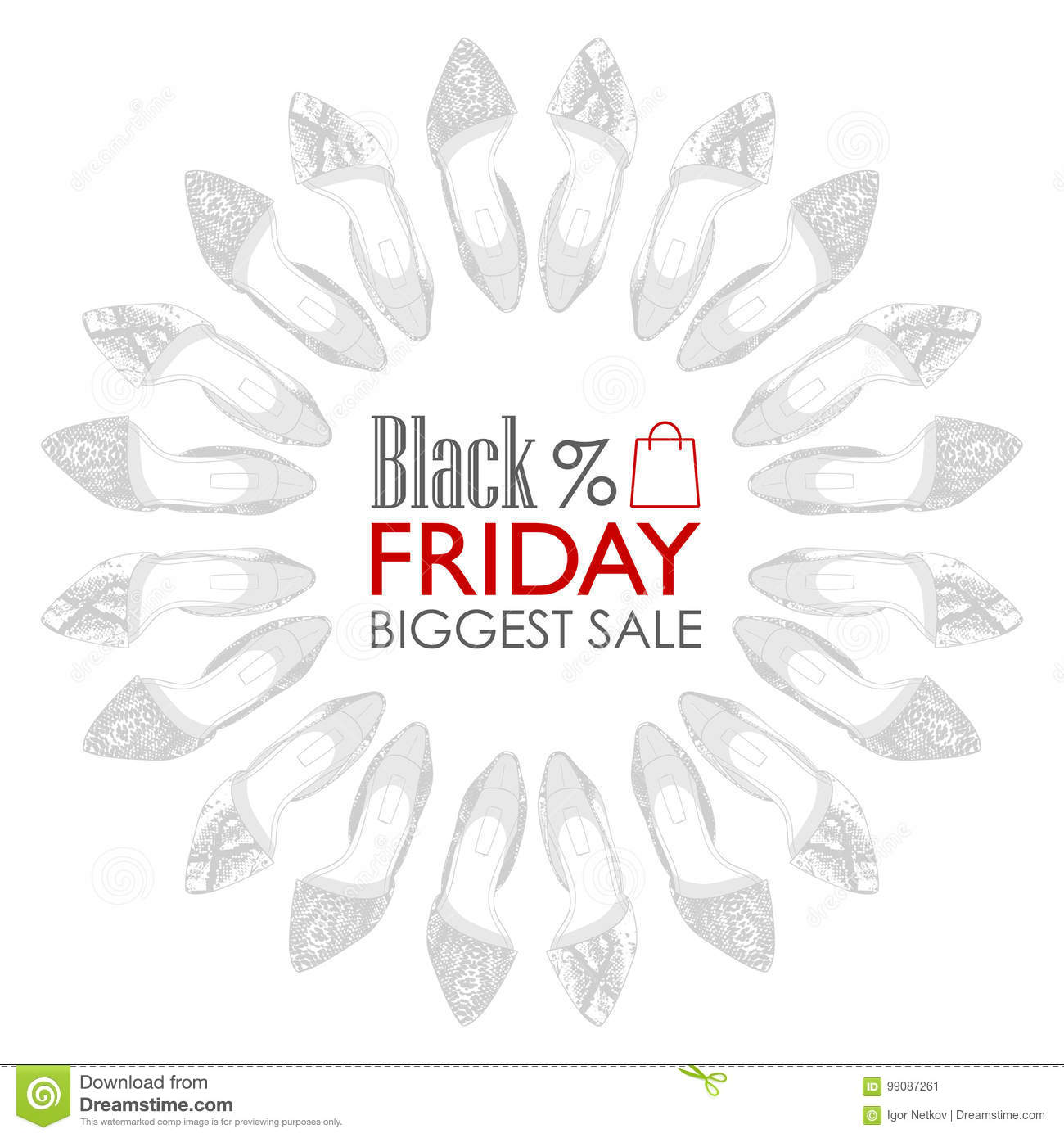 Black Friday Shoes Sale Stock Vector Illustration Of Beautiful 99087261