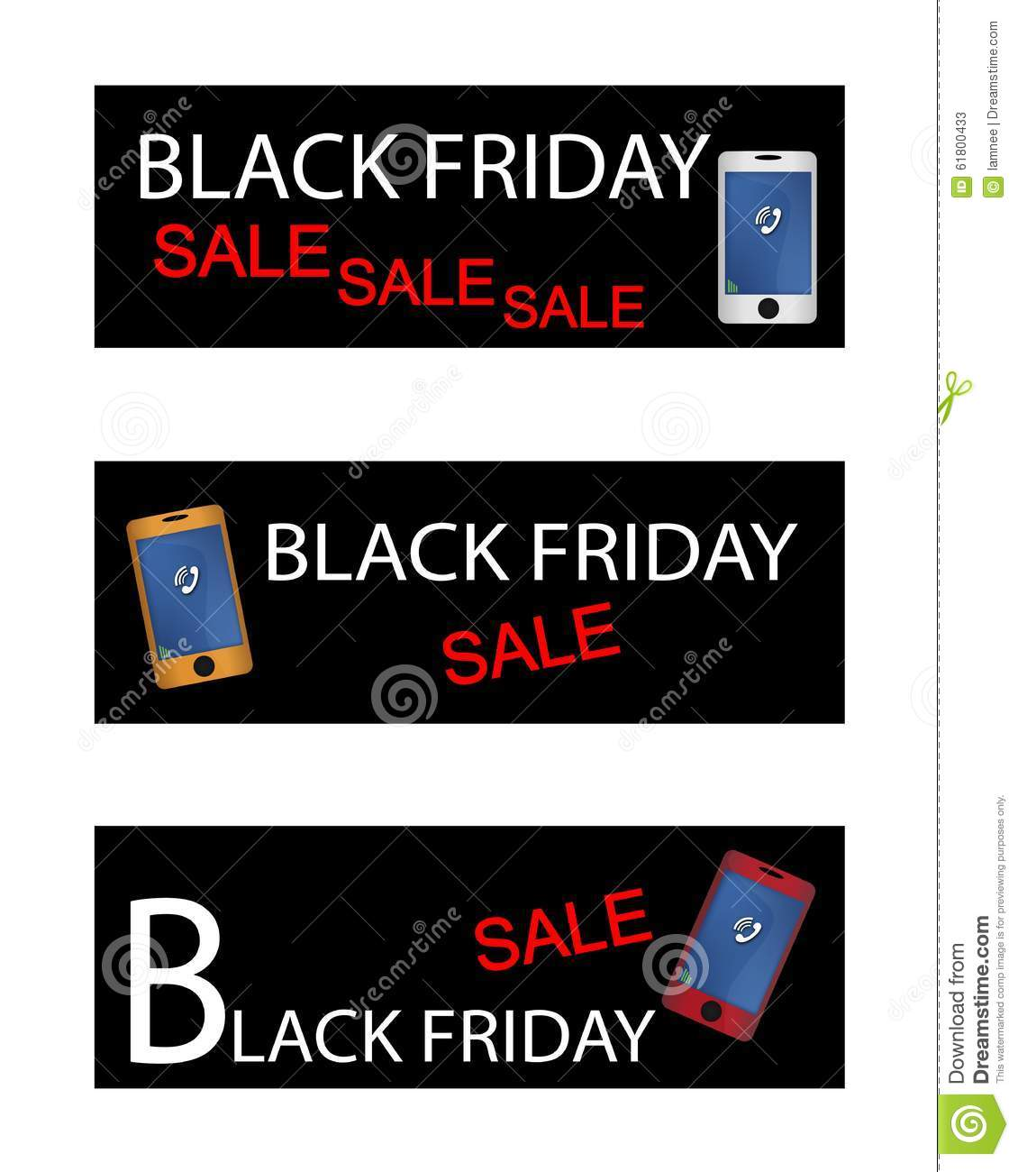black friday shopping promotion with smart phone stock vector image 61800433. Black Bedroom Furniture Sets. Home Design Ideas