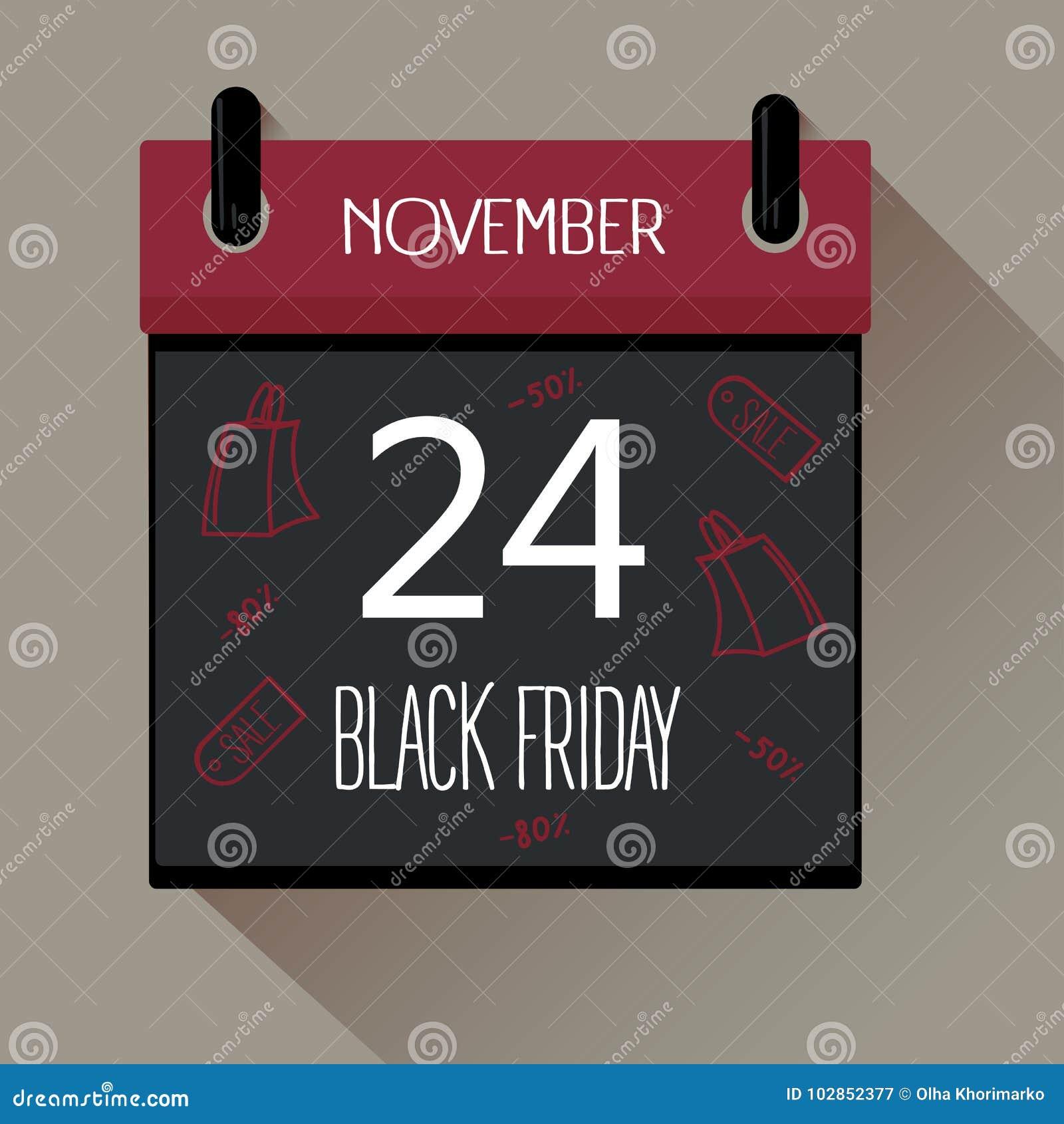 Black Friday sprzedaży 2017 kalendarz
