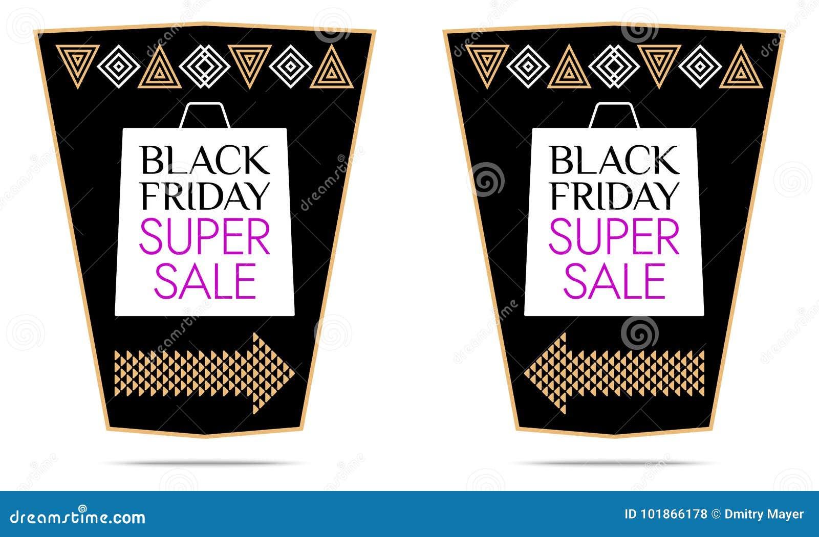 d456dd7fee Black Friday Super Sale. Vector Sticker Stock Vector - Illustration ...