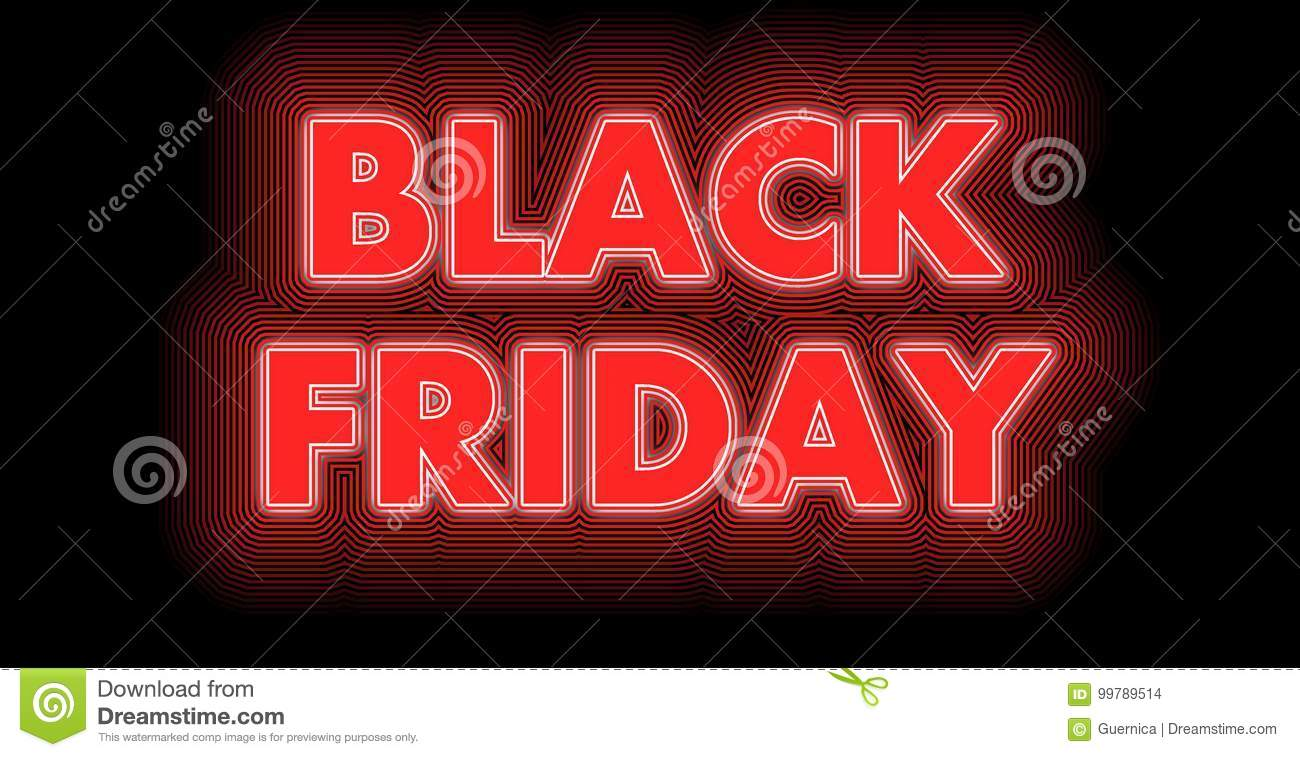 Black Friday-teken in rood