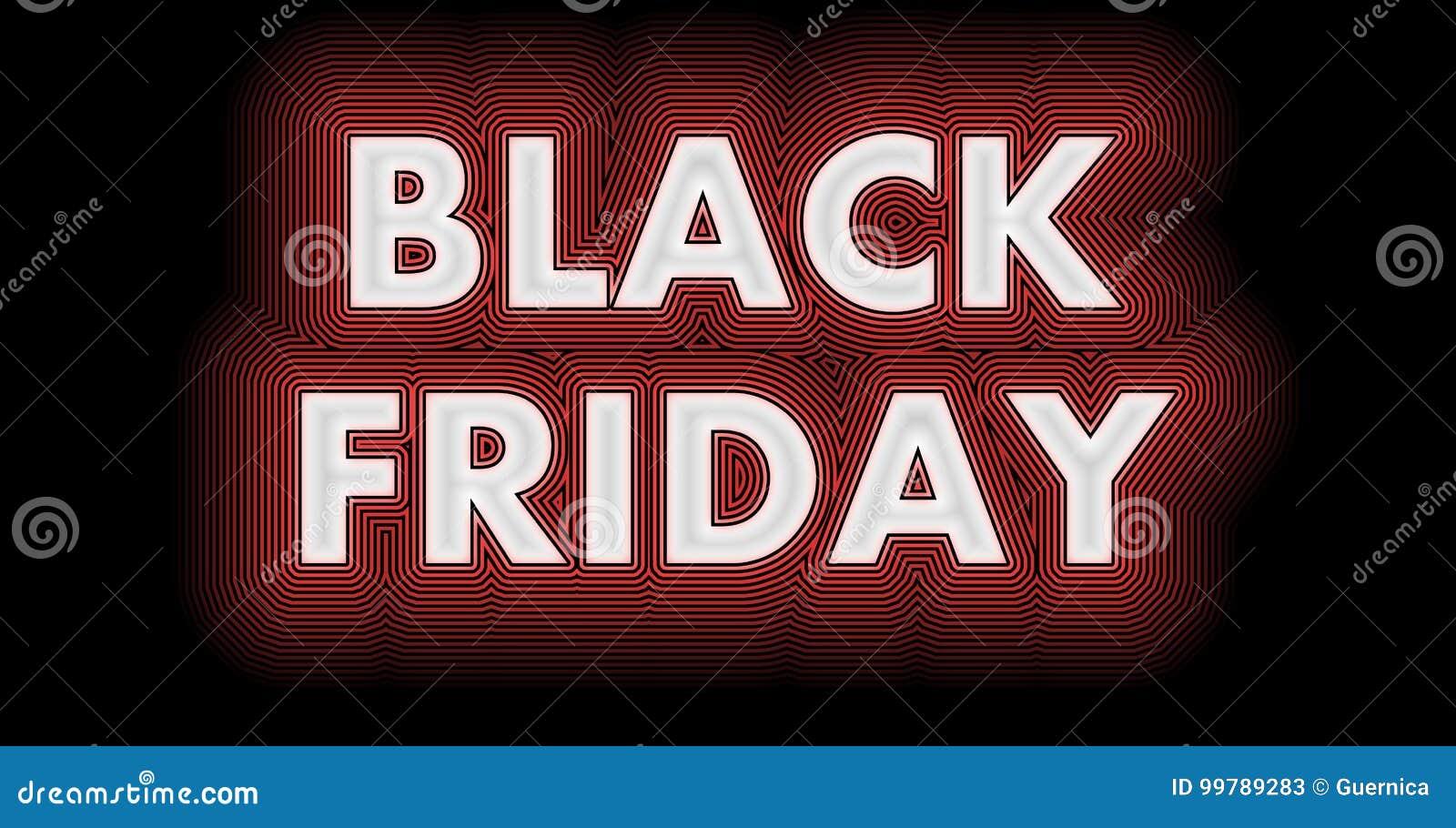 Black Friday-teken in witte glanzend