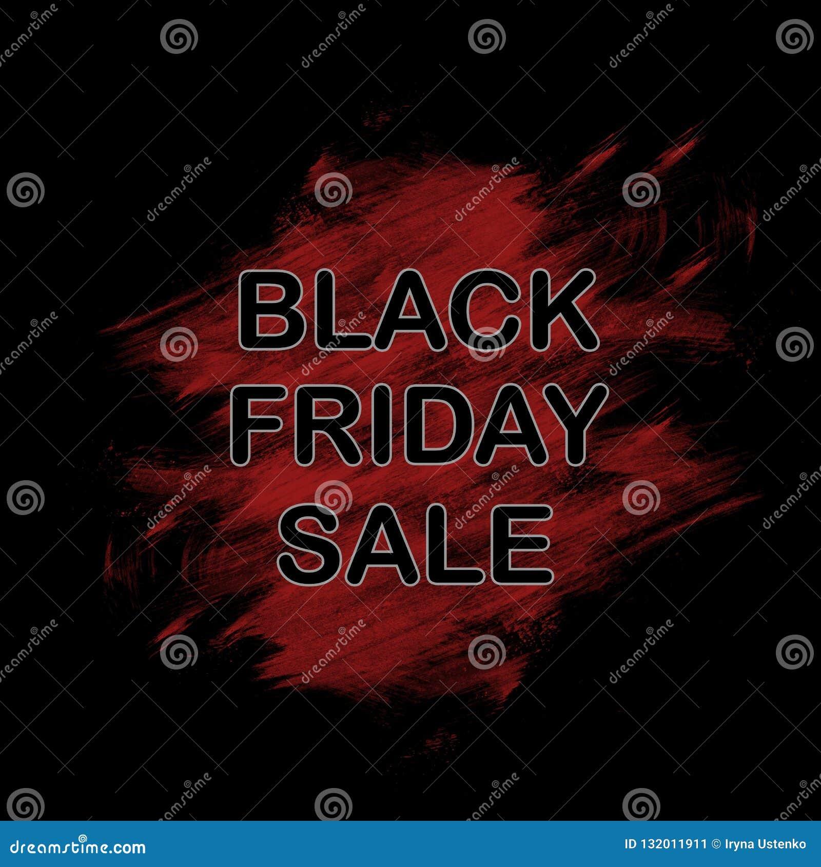 Black Friday, venda grande Texto do título Bandeira, cartaz, papel de parede Pintura da tinta Curso da escova abstraia o fundo