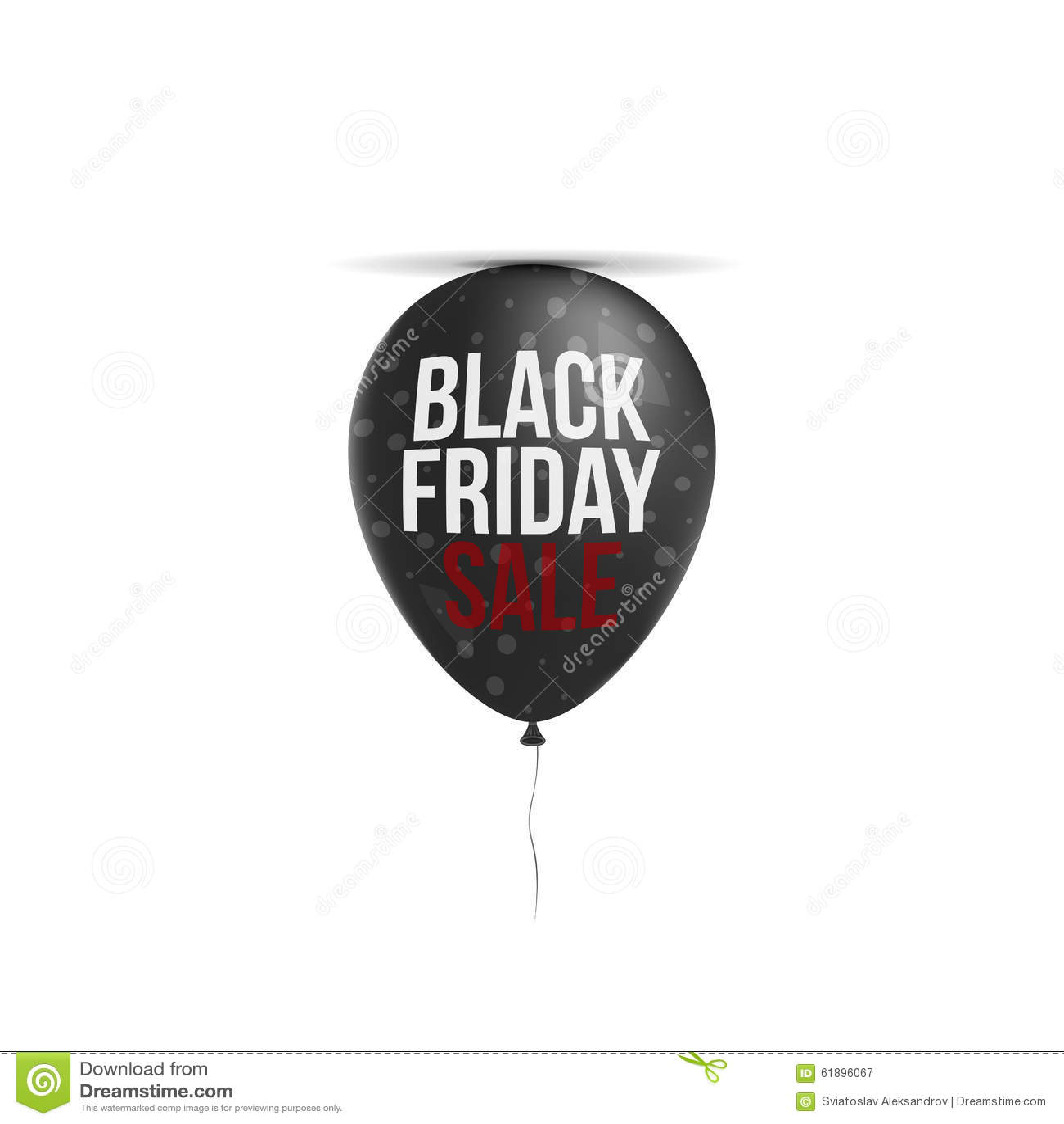 c5efcd888cdd Black Friday-Verkaufs-Text Auf Realistischem Ballon Vektor Abbildung ...