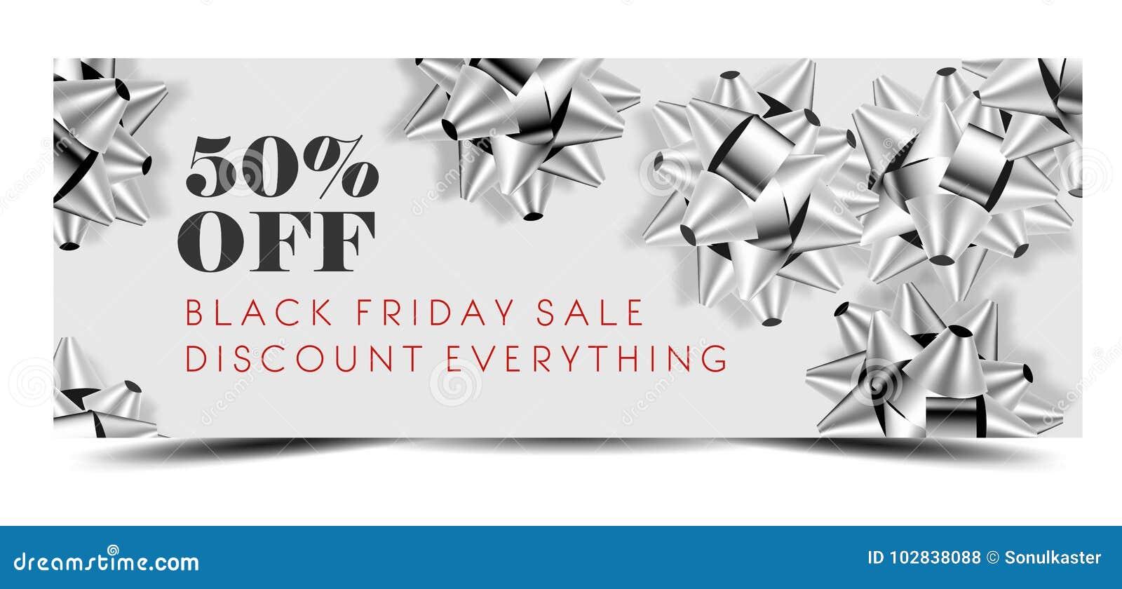 Black Friday-Verkaufsrabatt Promo-Angebotfahne oder kaufen ein 50-Prozent-Preis weg vom Reklamehandzettel und dem Kupon