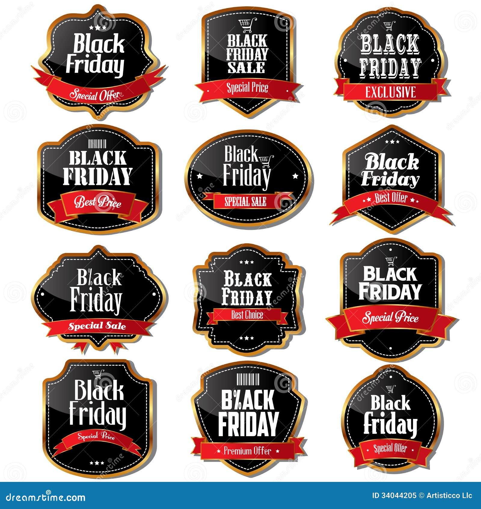 Black Friday-verkoopetiketten