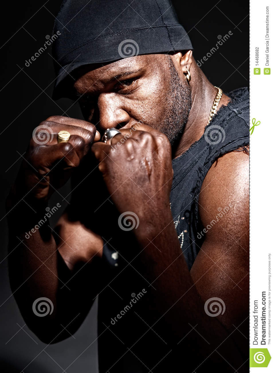 Black Gangster Men Fight Portrait High Contrast Stock Photography ...