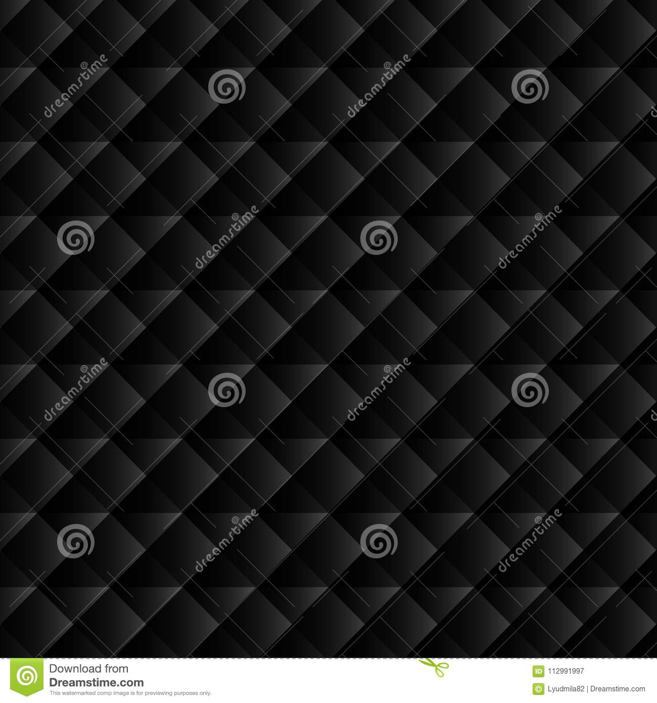 Black geometric background for website decoration, banner, leaflet, top cover, packaging.