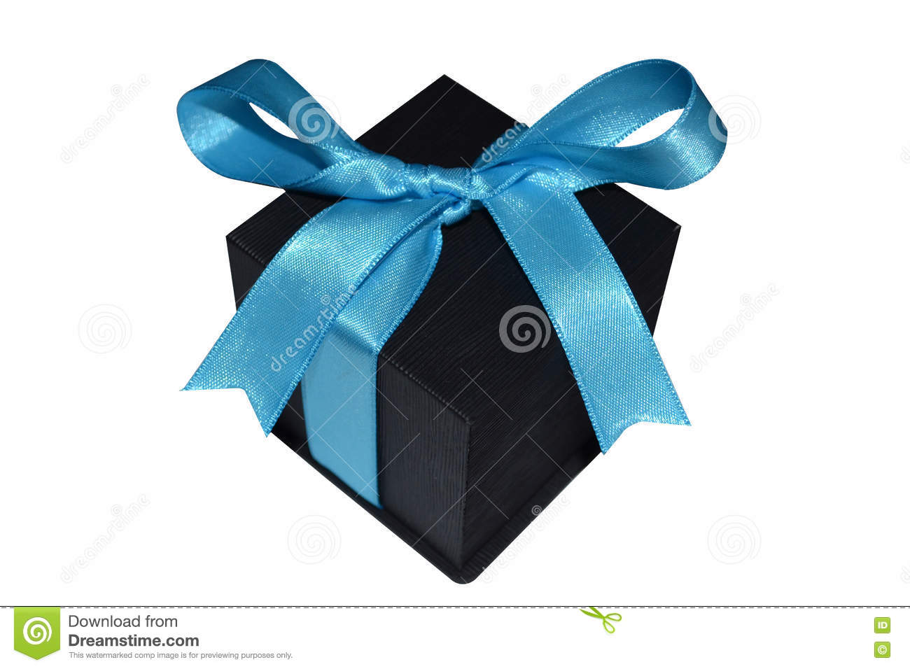 download black gift box with blue ribbon on white background stock image image of romance