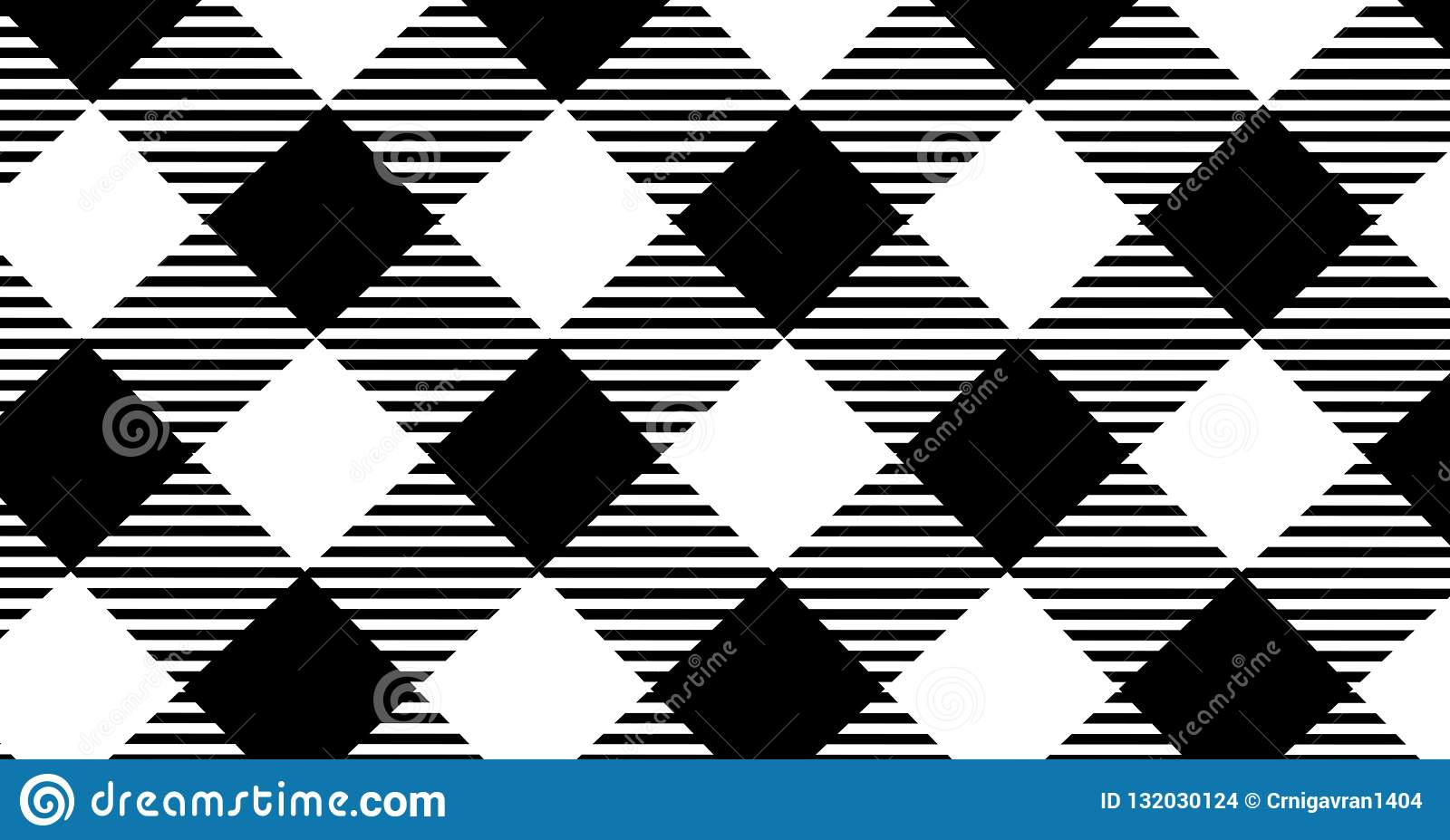 Black gingham pattern background.Texture from rhombus.Vector ill