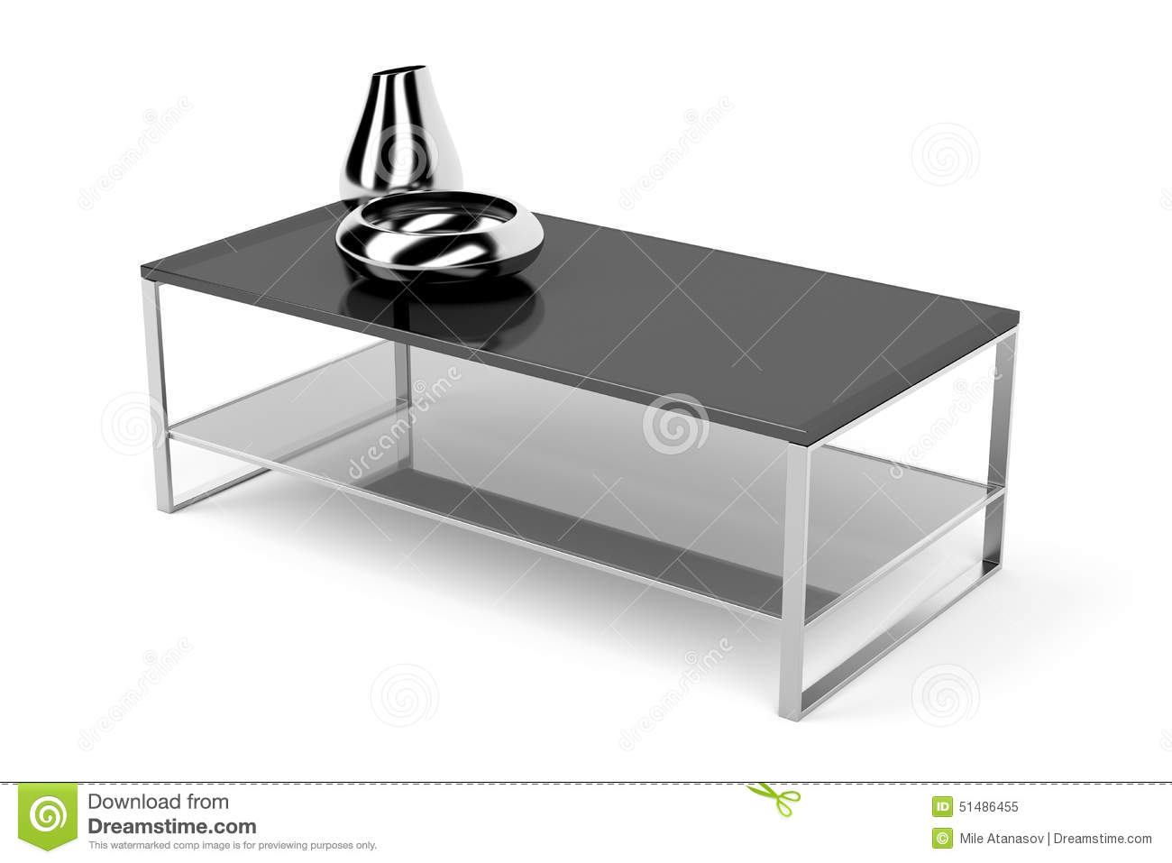 Black glass coffee table stock illustration image 51486455 for Black and white glass coffee table