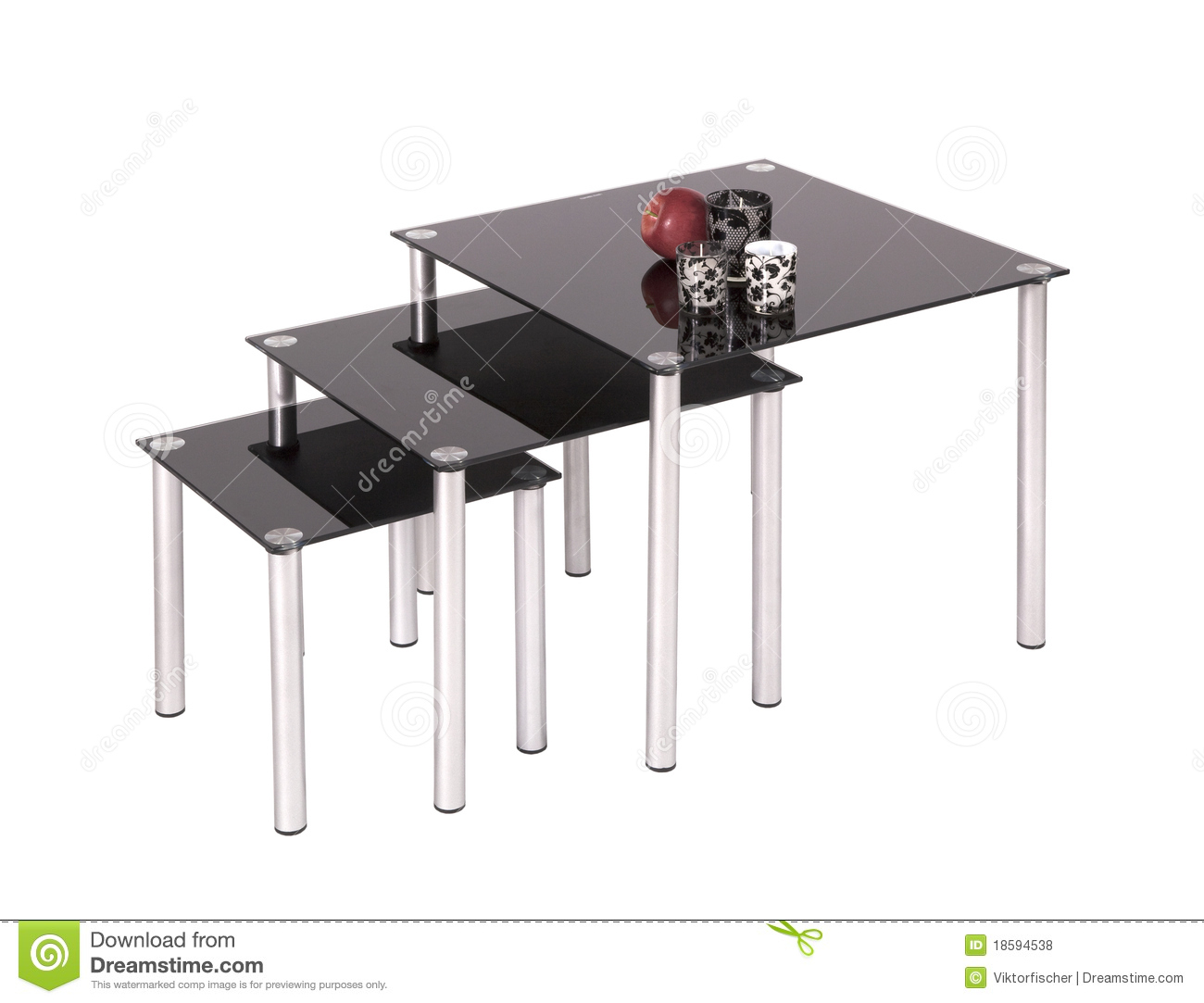 Black glass top dining tables royalty free stock photos - Black glass top dining table ...