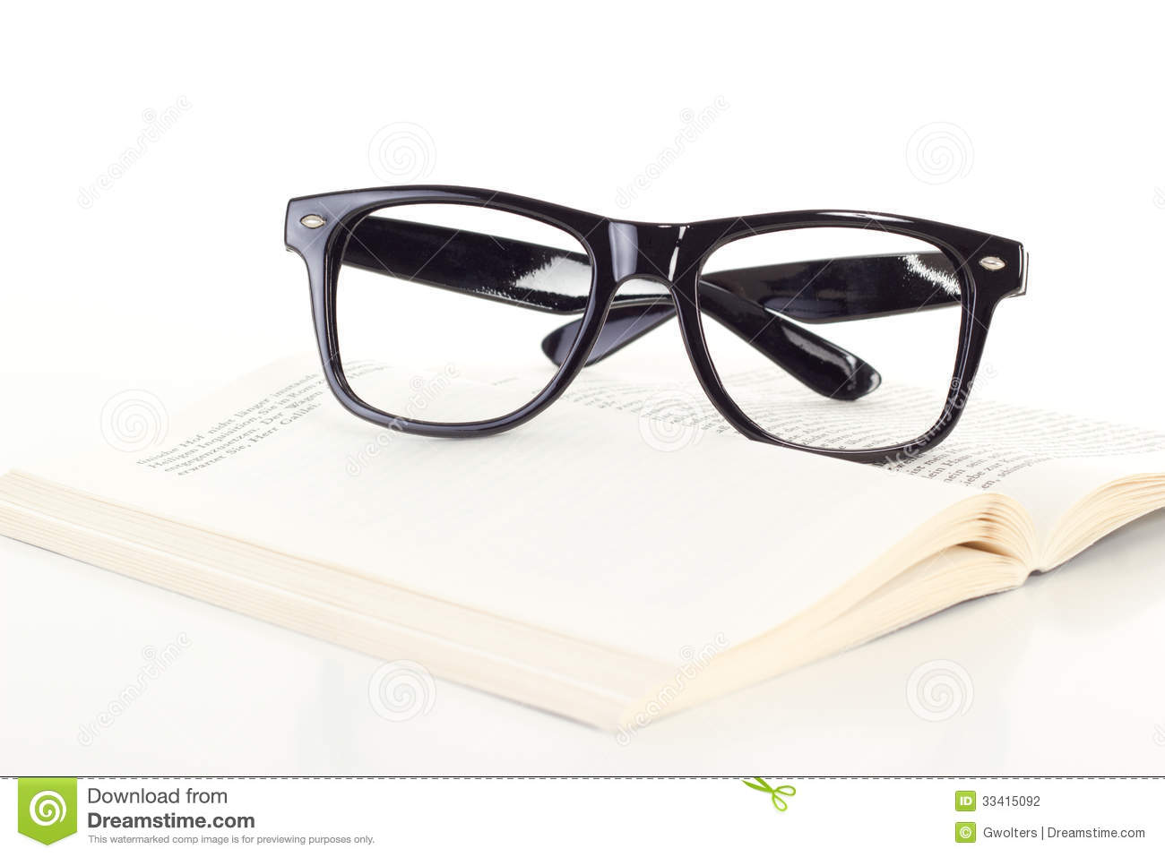 glasses on book - photo #48