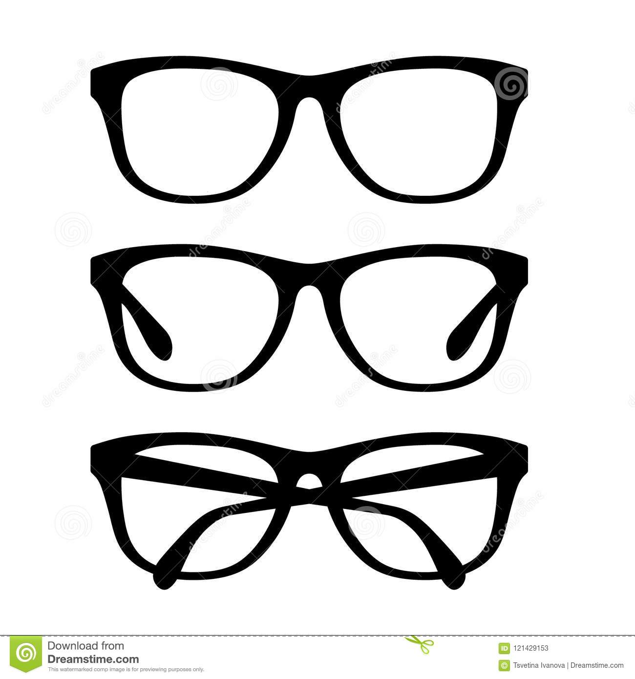 a01999f366 Black glasses set vector retro eyeglasses frames set stock vector jpg  1300x1390 Glasses frames vector