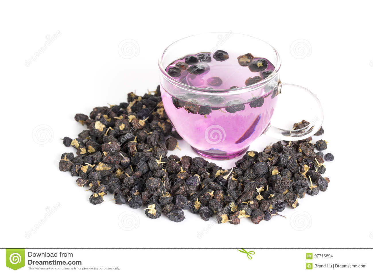 Black Goji Berry Tea Stock Photo Image Of Herbal Black 97716894