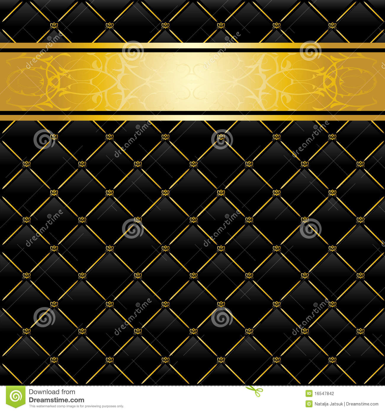 Black And Gold Background Stock Vector Illustration Of Golden