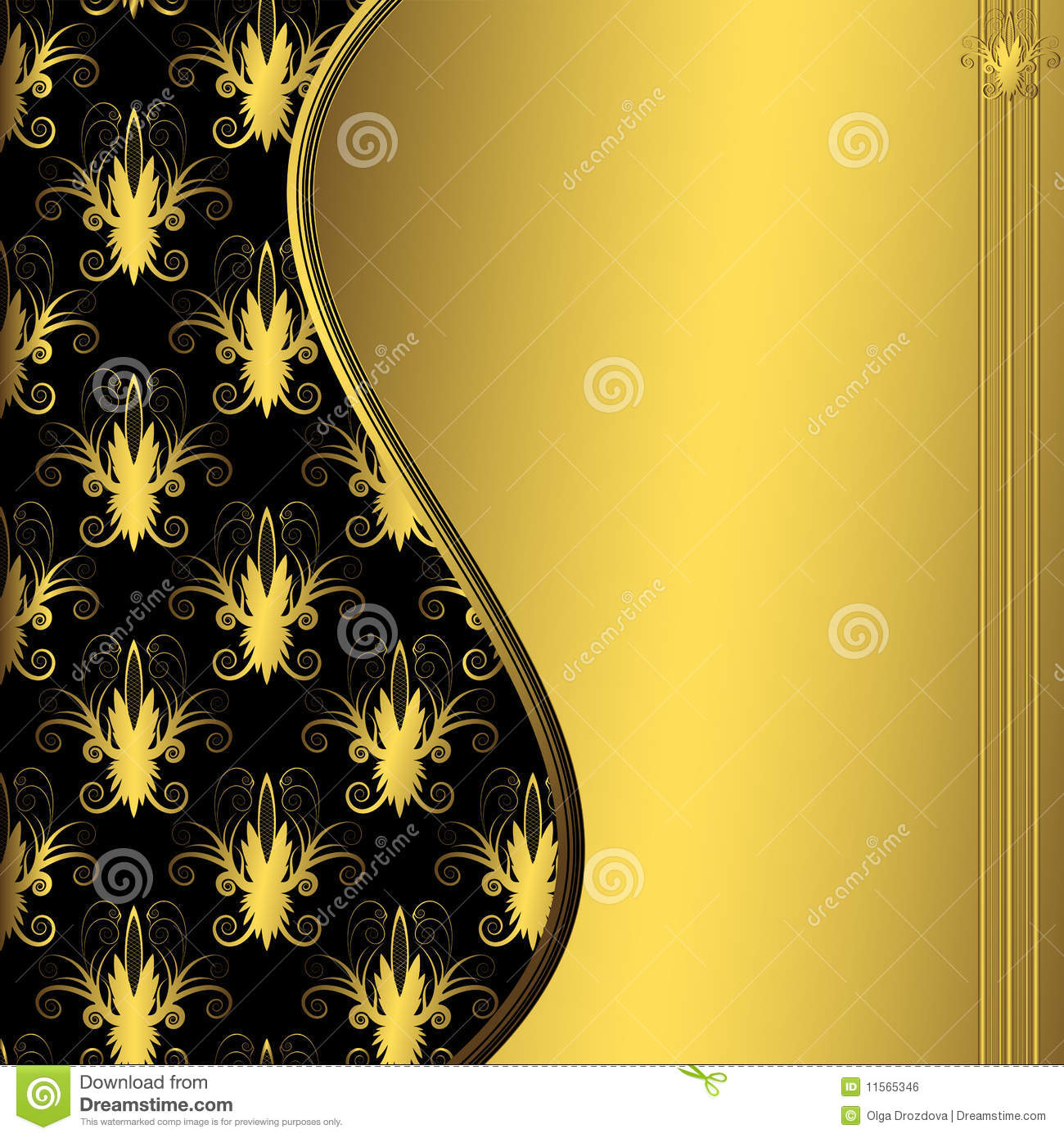 Black And Gold Decorative Frame Stock Vector Illustration Of