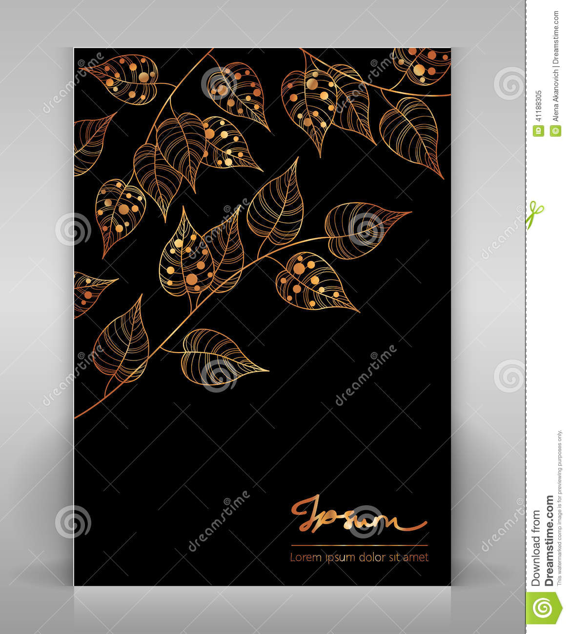 Black and gold flyer stock image Image of decoration 41188305