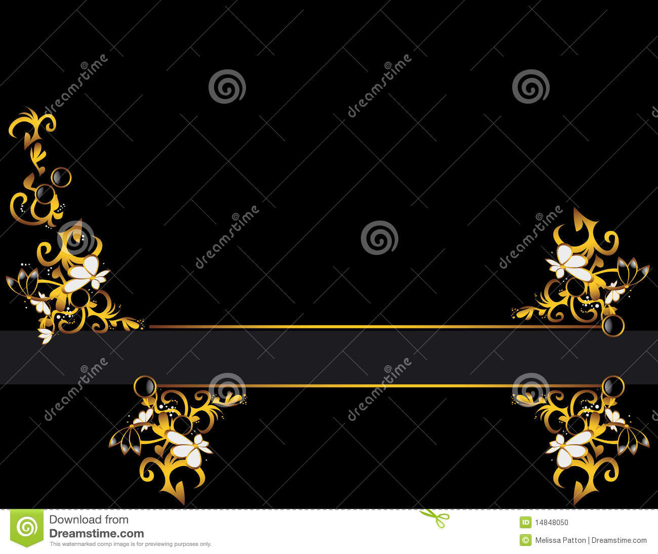 Black Gold Gray Background Design Stock Photo - Image ...