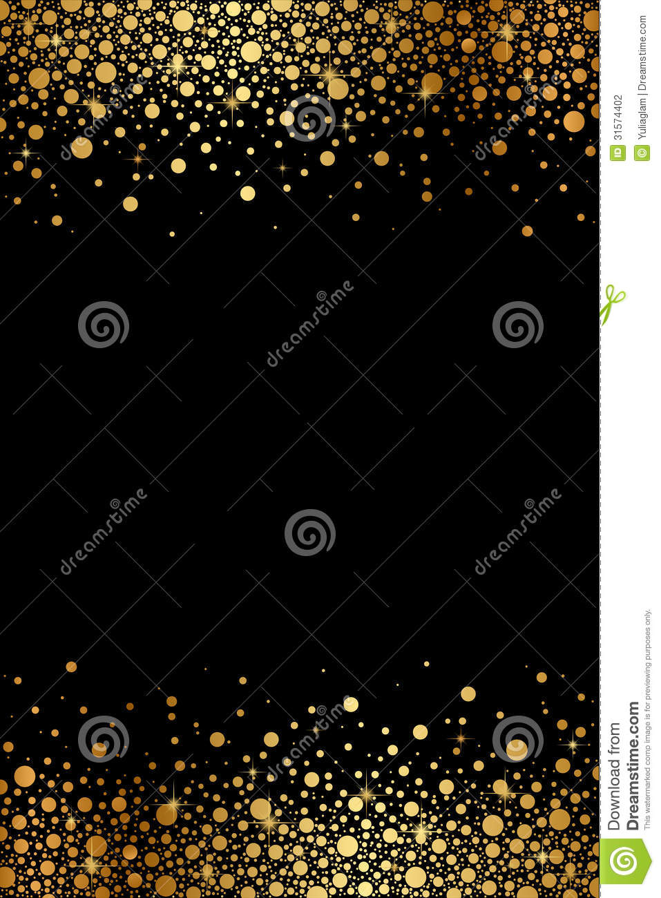 Black And Gold Luxury Frame Stock Vector Illustration Of