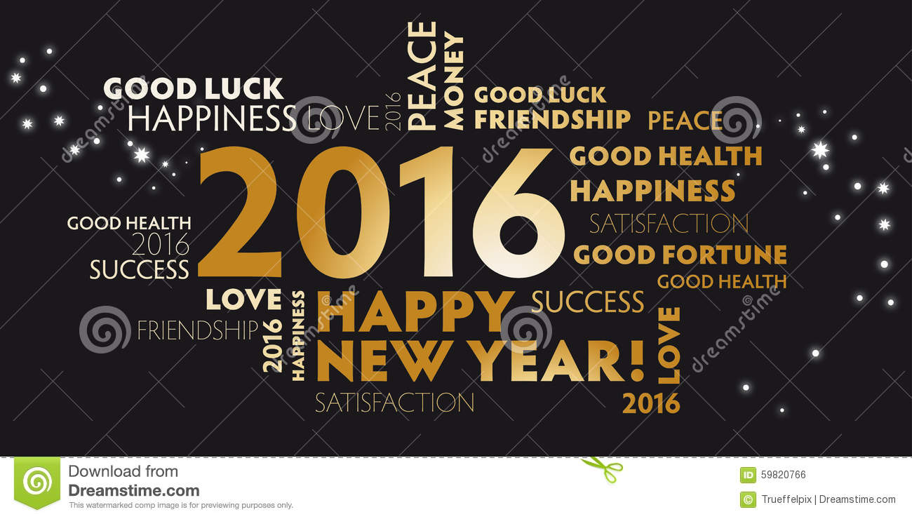 All graphics newest royalty free stock photos stock illustrations - Royalty Free Stock Photo 2016 Black And Golden Postcard Happy New Year Stock Photo