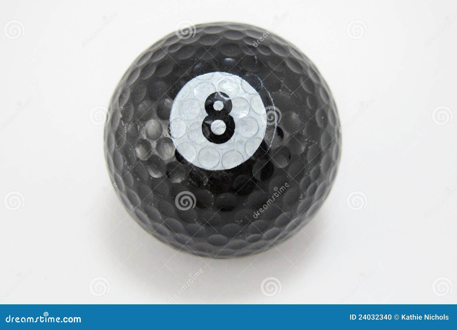 black golf ball with number 8 stock photo image 24032340. Black Bedroom Furniture Sets. Home Design Ideas